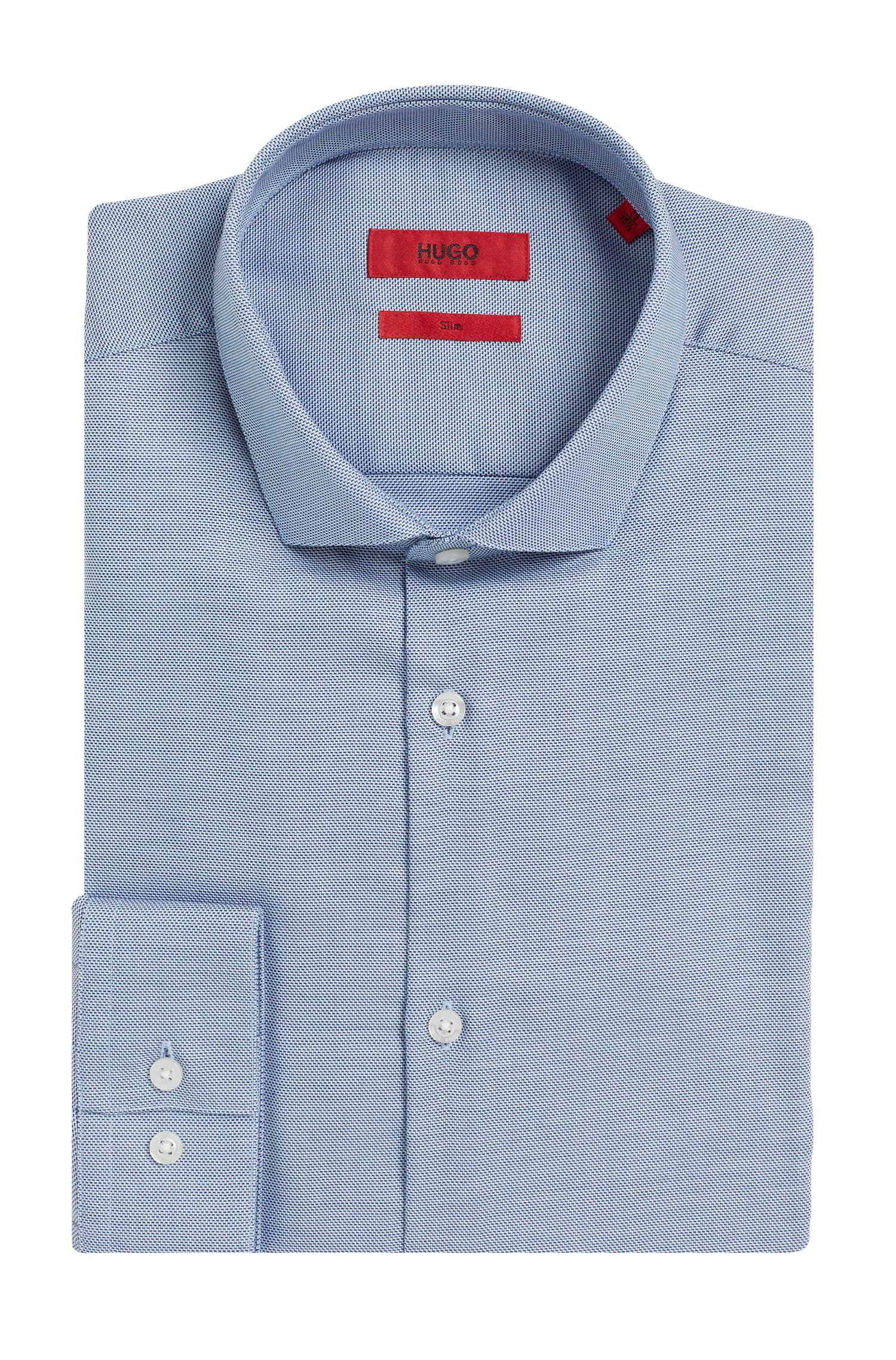 Fein gemustertes Slim-Fit Hemd aus Baumwolle: 'Erondo'