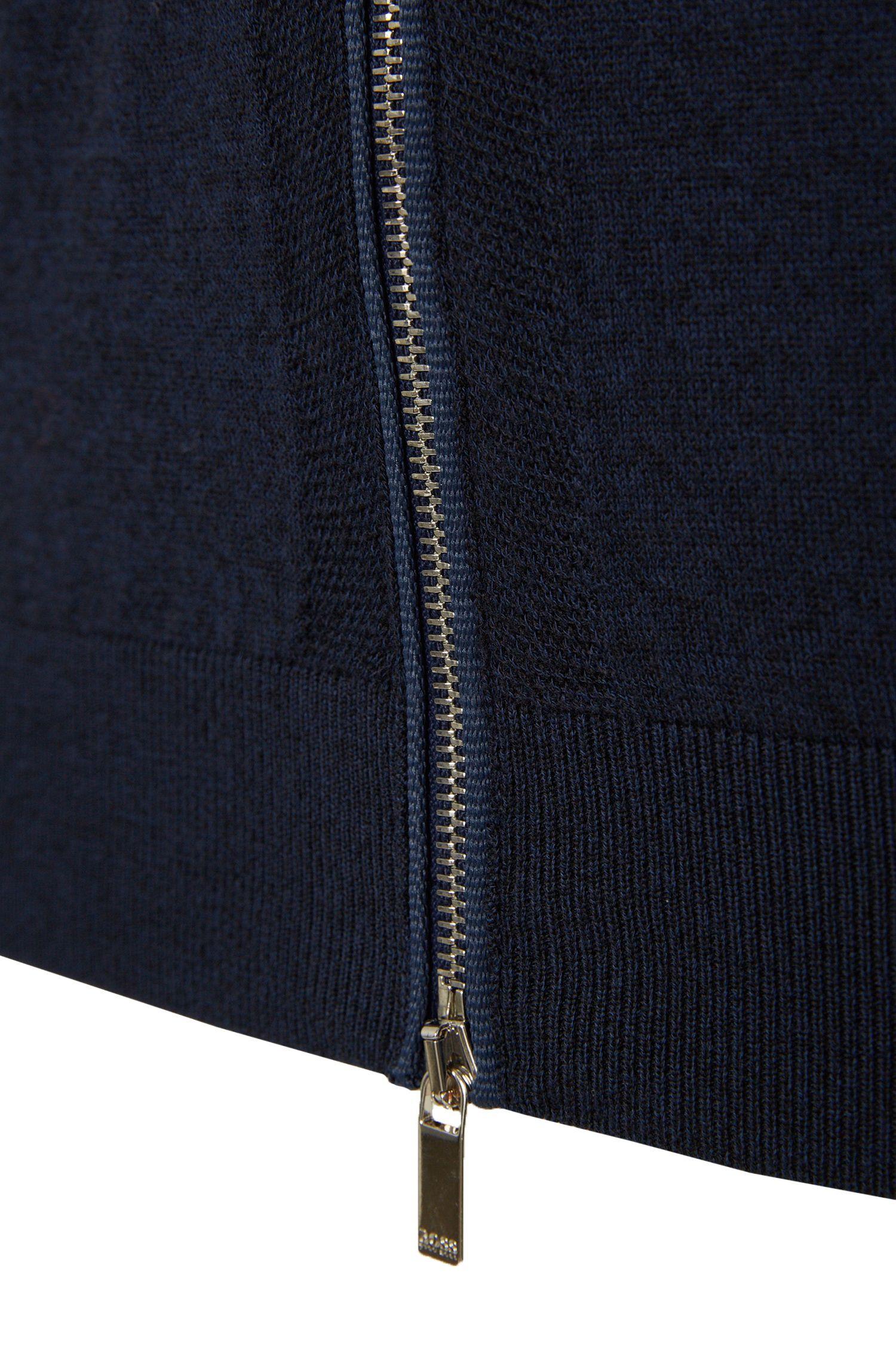 Slim-fit gebried vest uit de Tailored-collectie, van een scheerwolmix met katoen: 'T-Havel'