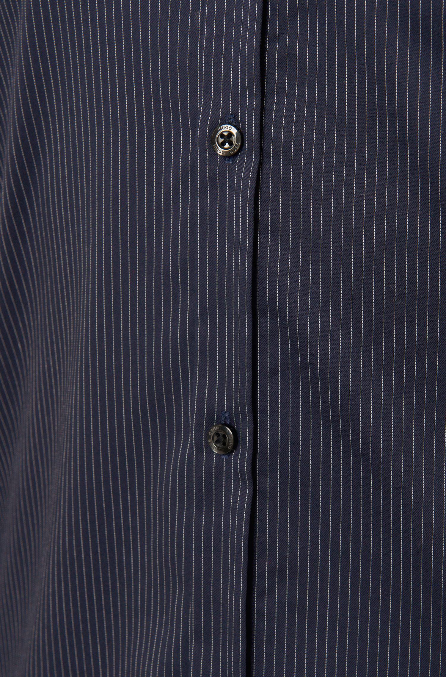 Gestreept slim-fit overhemd van zuiver katoen: 'Ero3'