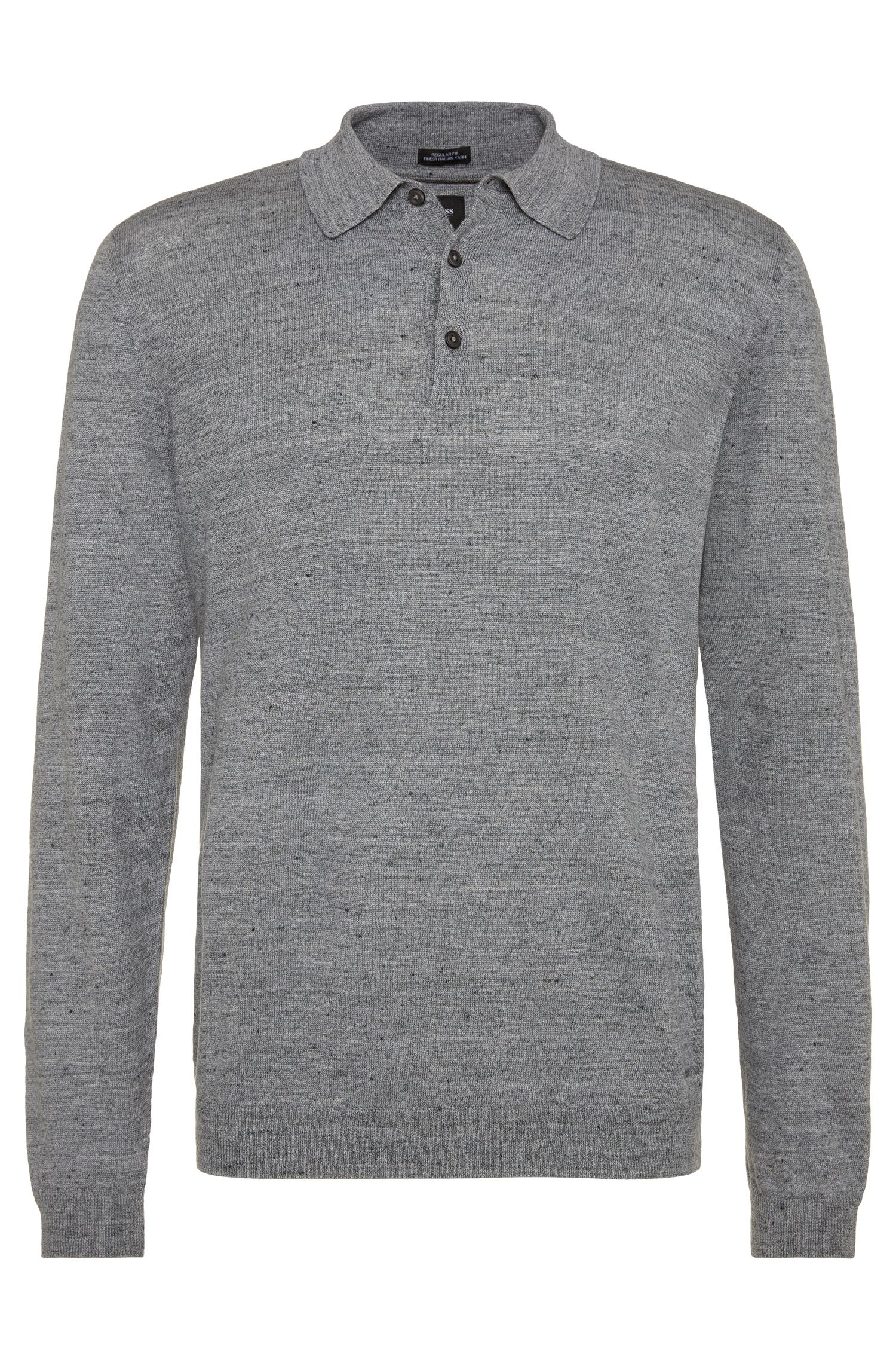 Regular-Fit Pullover aus Leinen-Mix: 'T-Hugh'