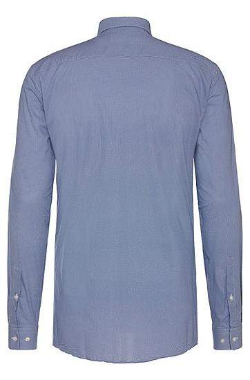 Gemustertes Slim-Fit Hemd aus bügelleichter Baumwolle: 'Erondo', Dunkelblau