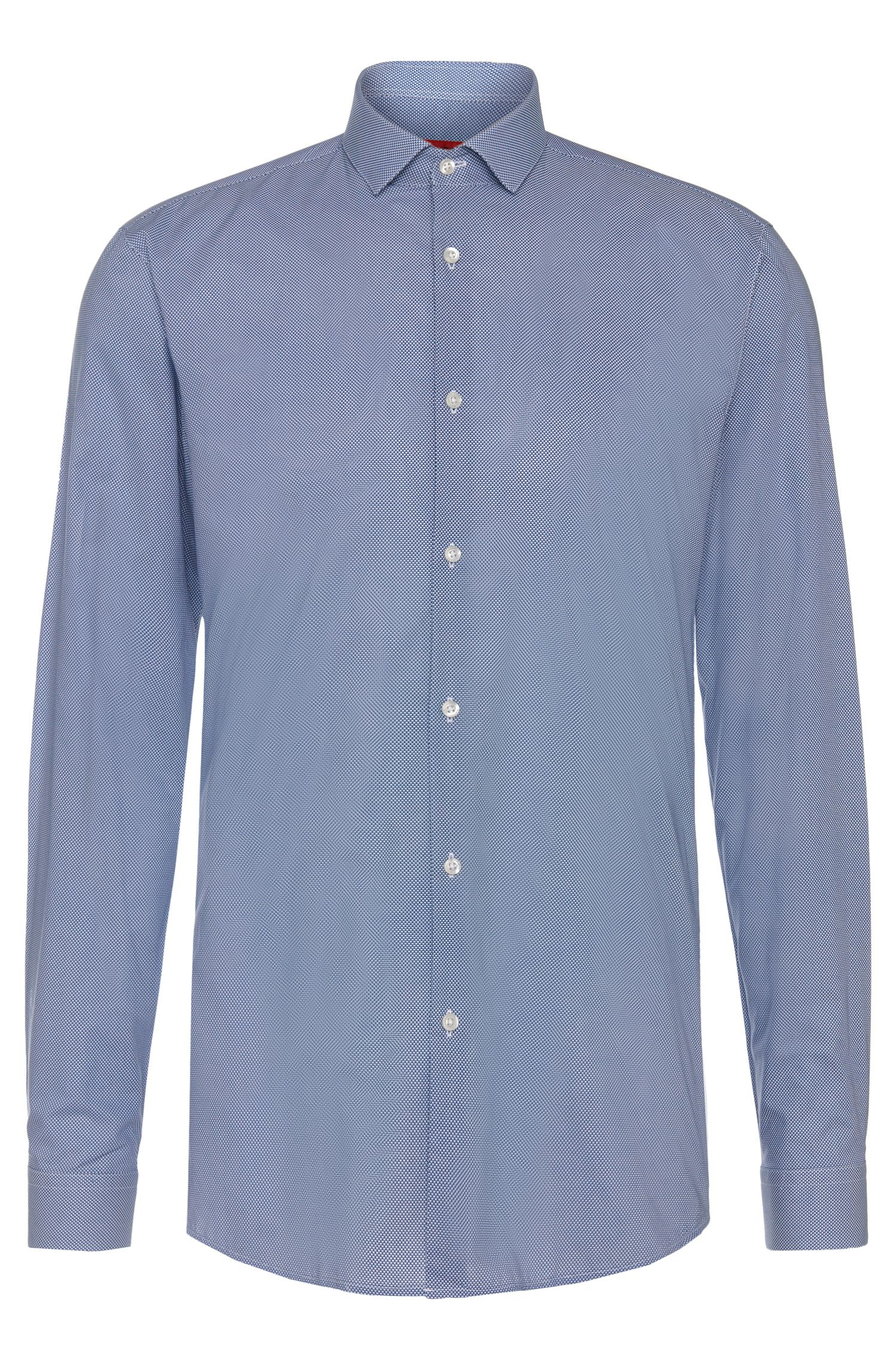 Patterned slim-fit shirt in easy-iron cotton: 'Erondo'