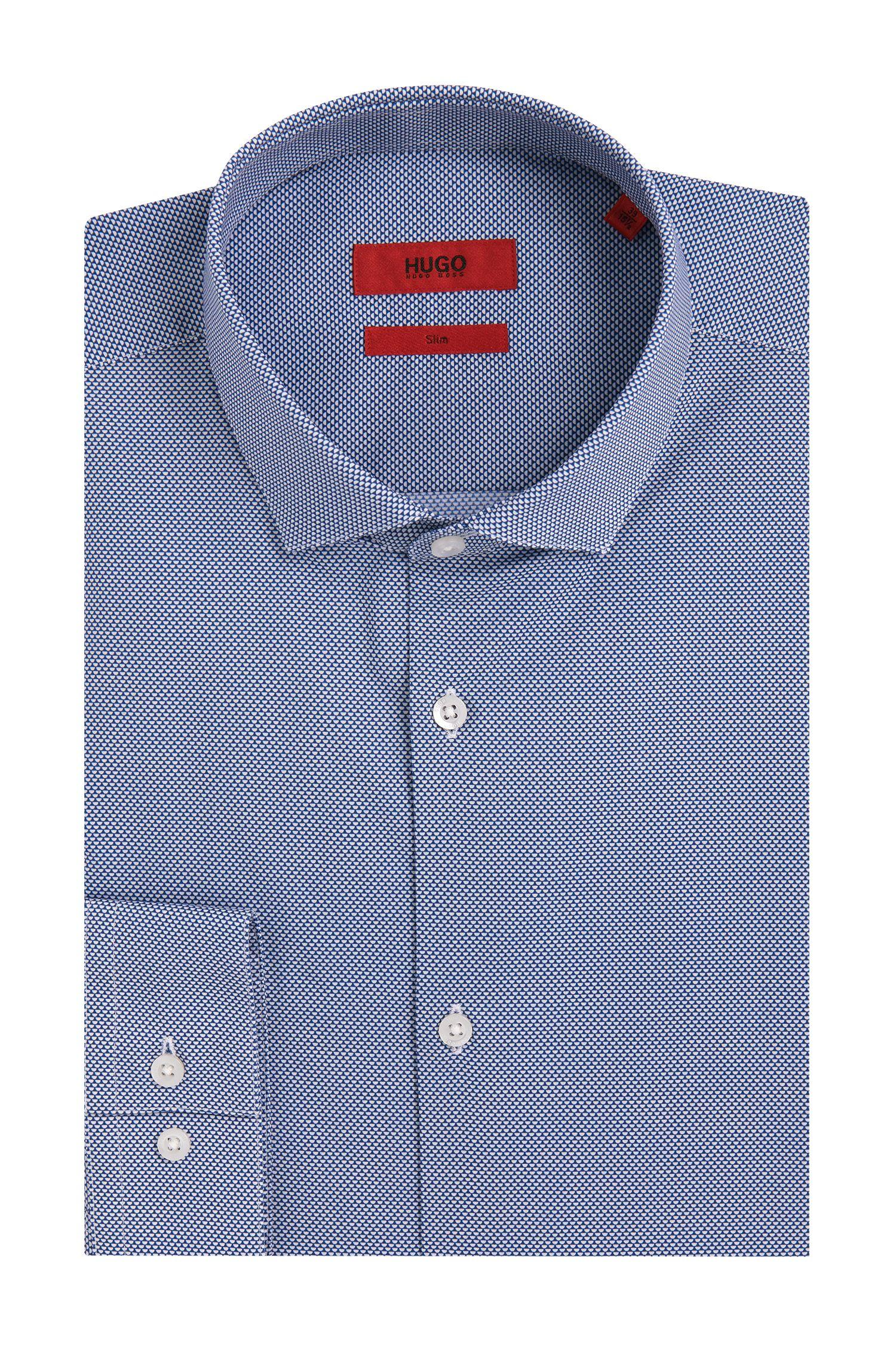 Gemustertes Slim-Fit Hemd aus bügelleichter Baumwolle: 'Erondo'