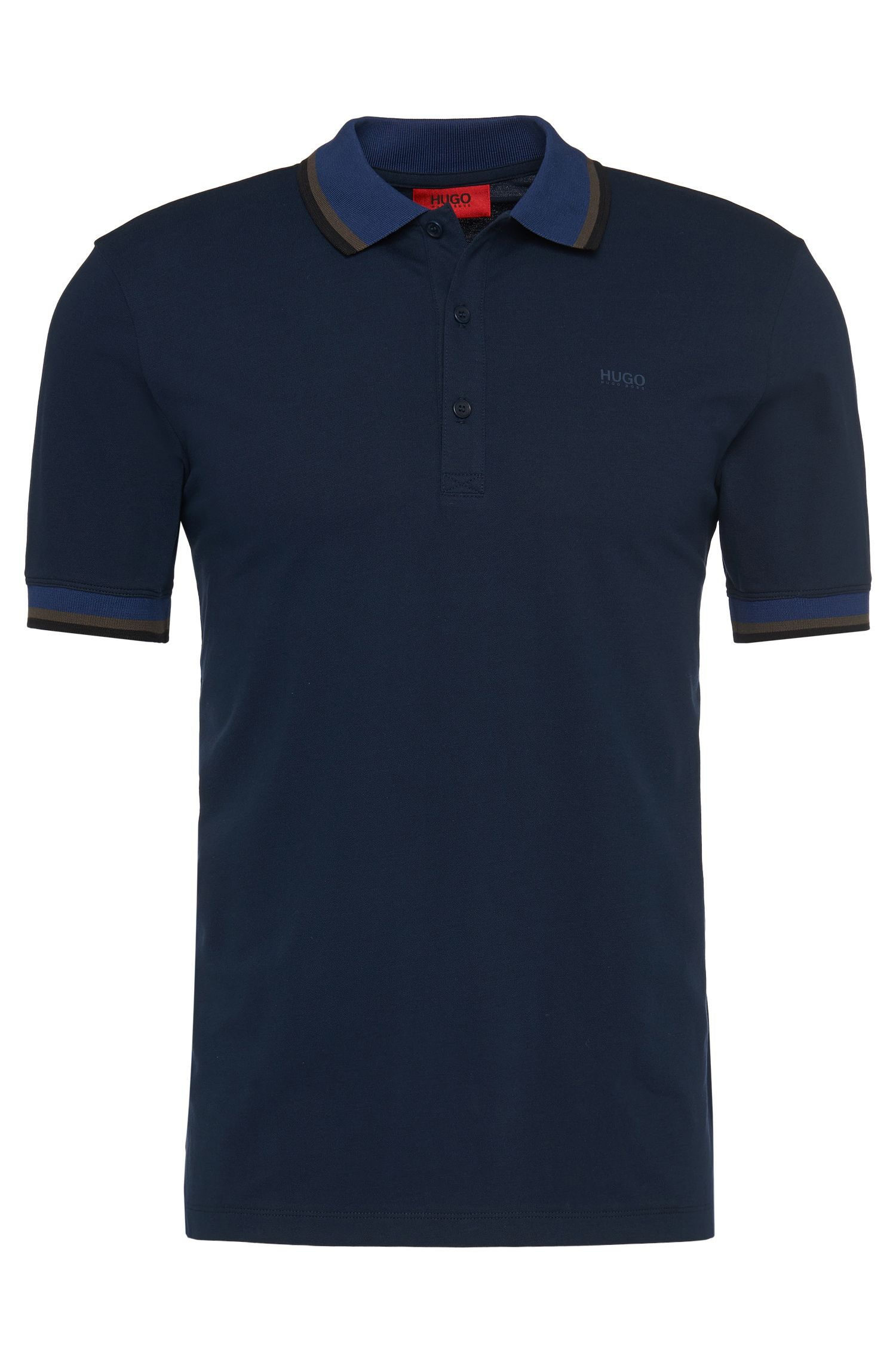 Regular-fit polo shirt in stretch cotton: 'Darese'