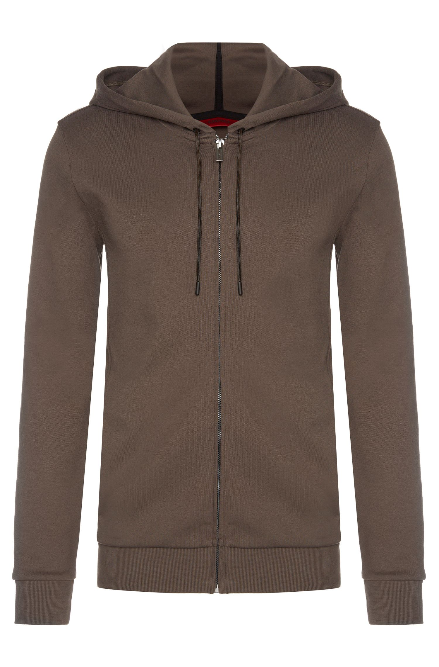 Regular-fit hooded sweatshirt jacket in cotton: 'Dalermo'