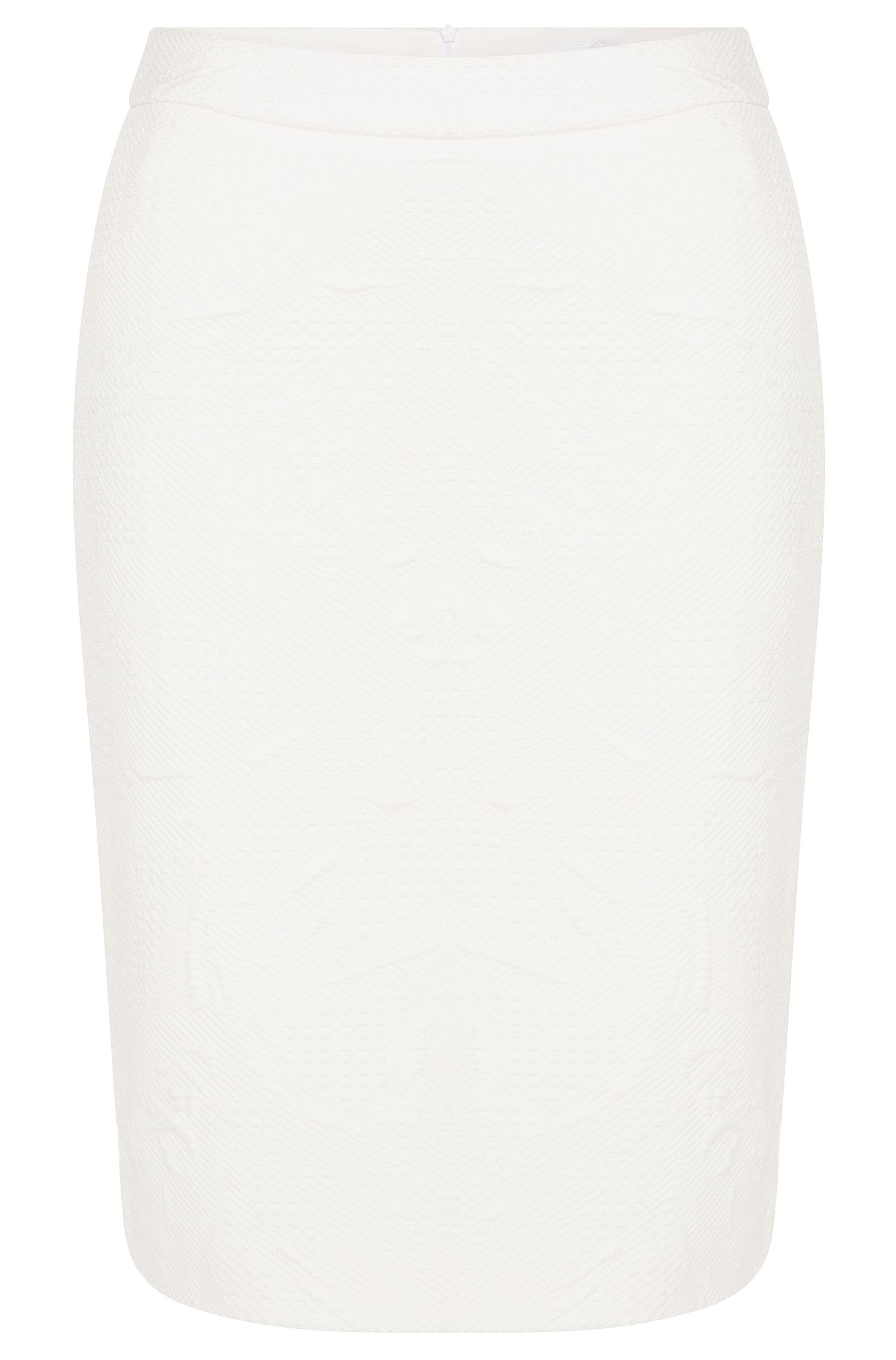 Pencil skirt in textured fabric: 'Miwinna'