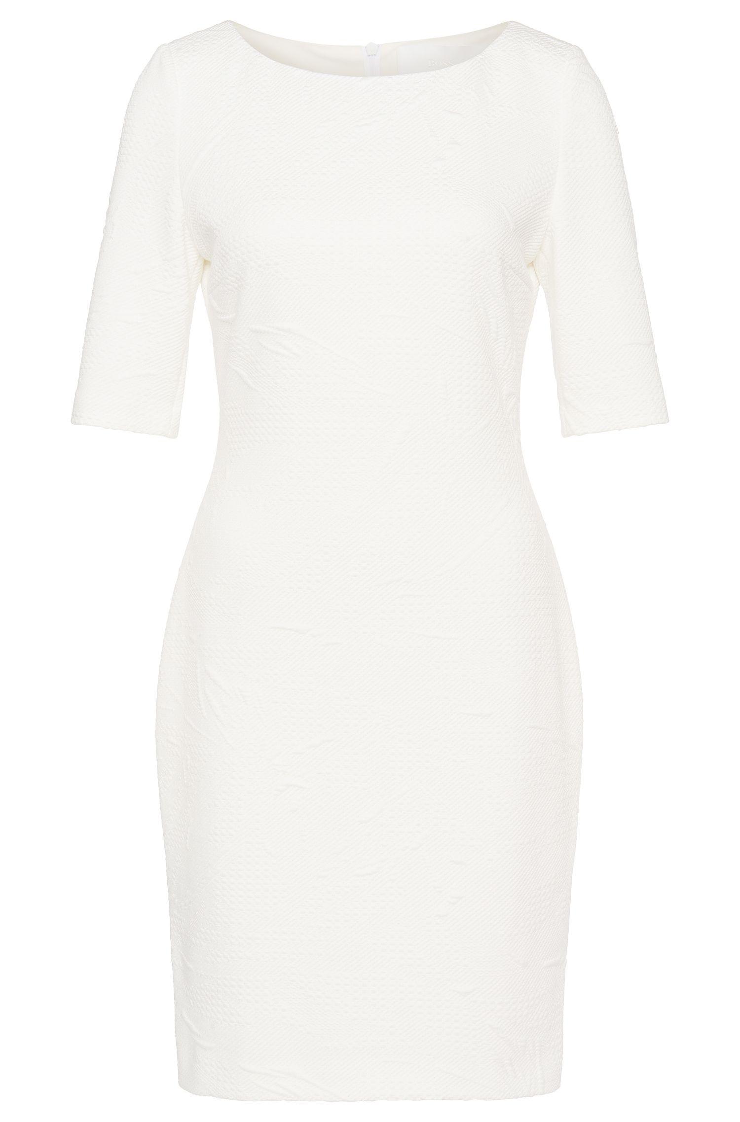 Dress in a textured stretch fabric: 'Hiwinna'