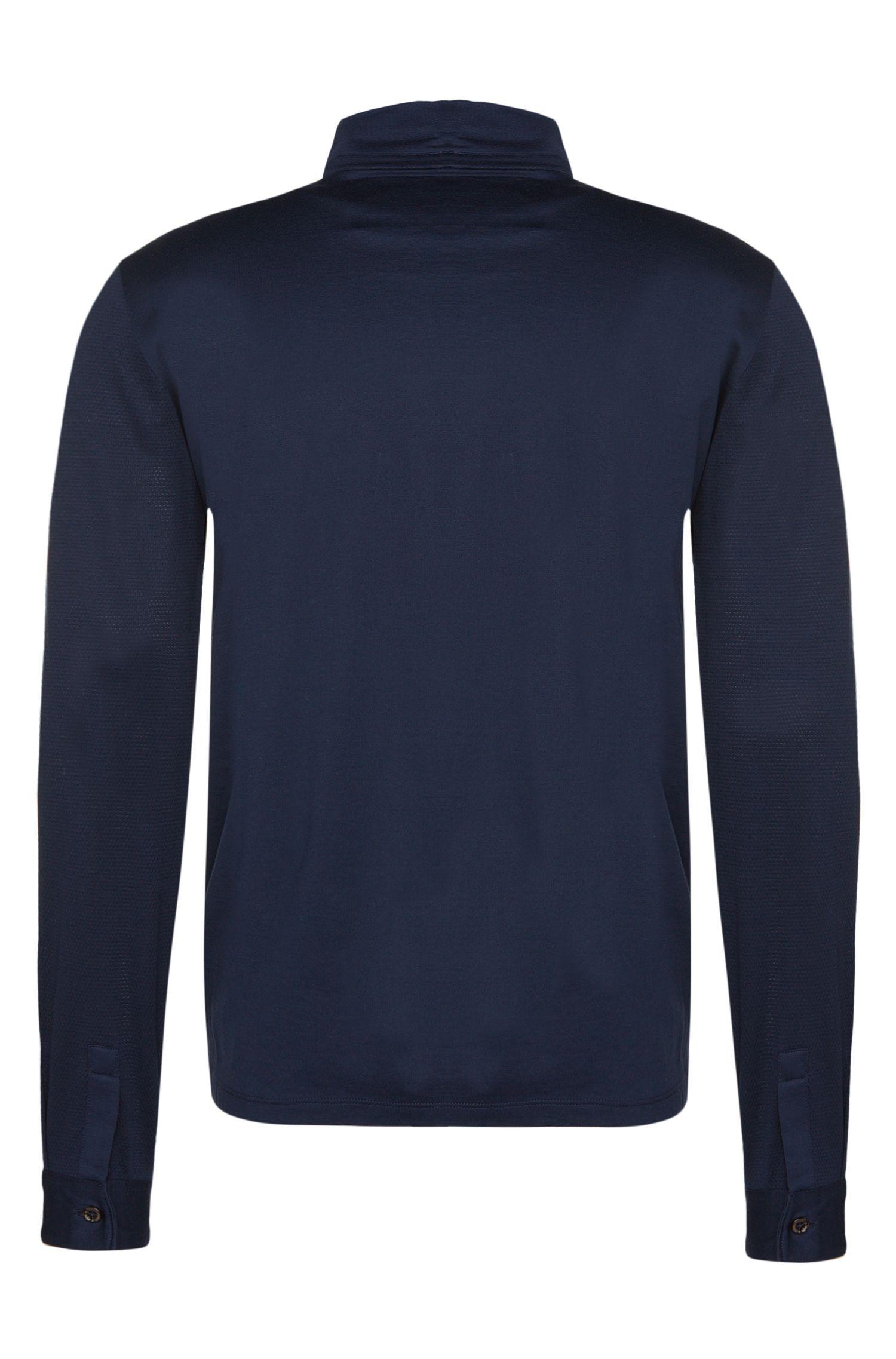 Regular-Fit Longsleeve-Poloshirt aus Baumwolle: 'Pickell 02'