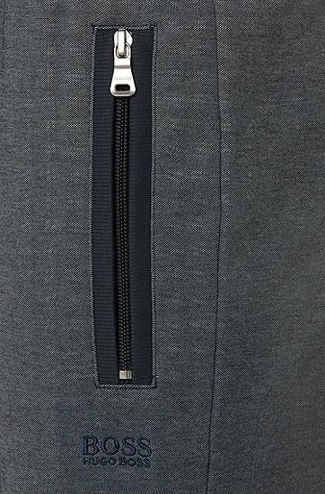 Jogginghose aus Baumwoll-Mix mit Reißverschlusstaschen: 'Long Pant', Dunkelblau