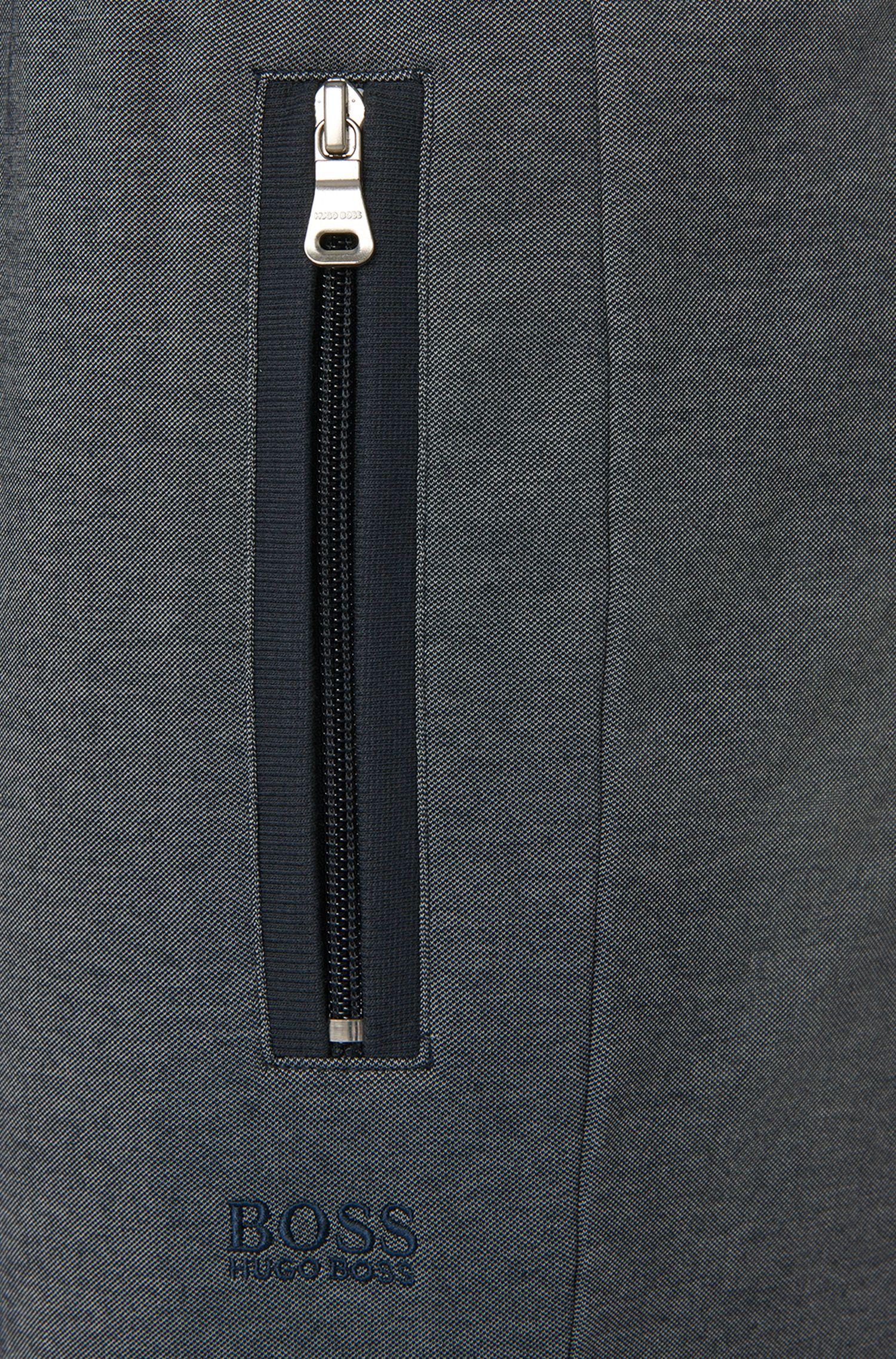 Jogginghose aus Baumwoll-Mix mit Reißverschlusstaschen: 'Long Pant'