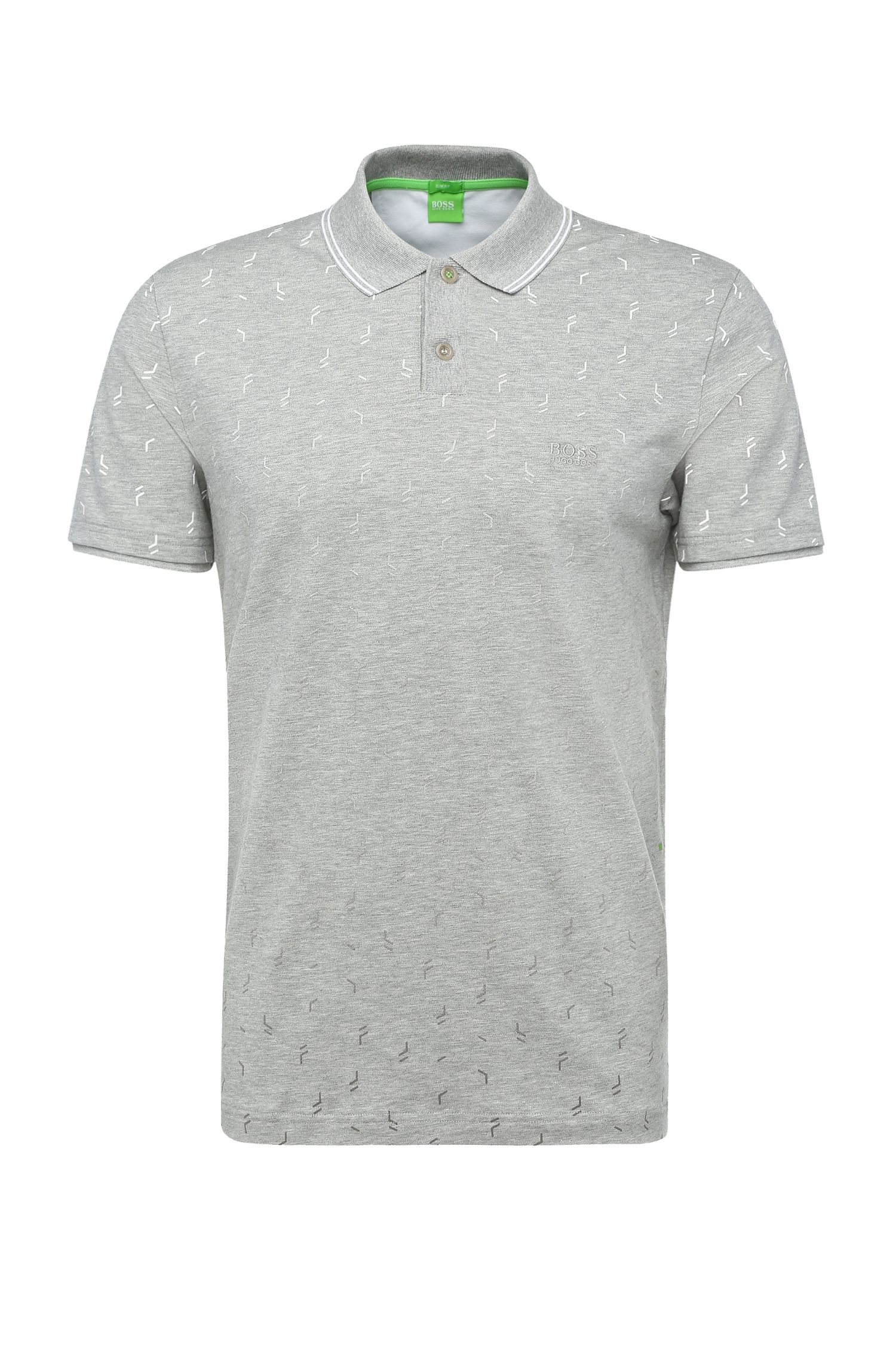 Slim-fit polo shirt in stretch cotton: 'Paule 3'
