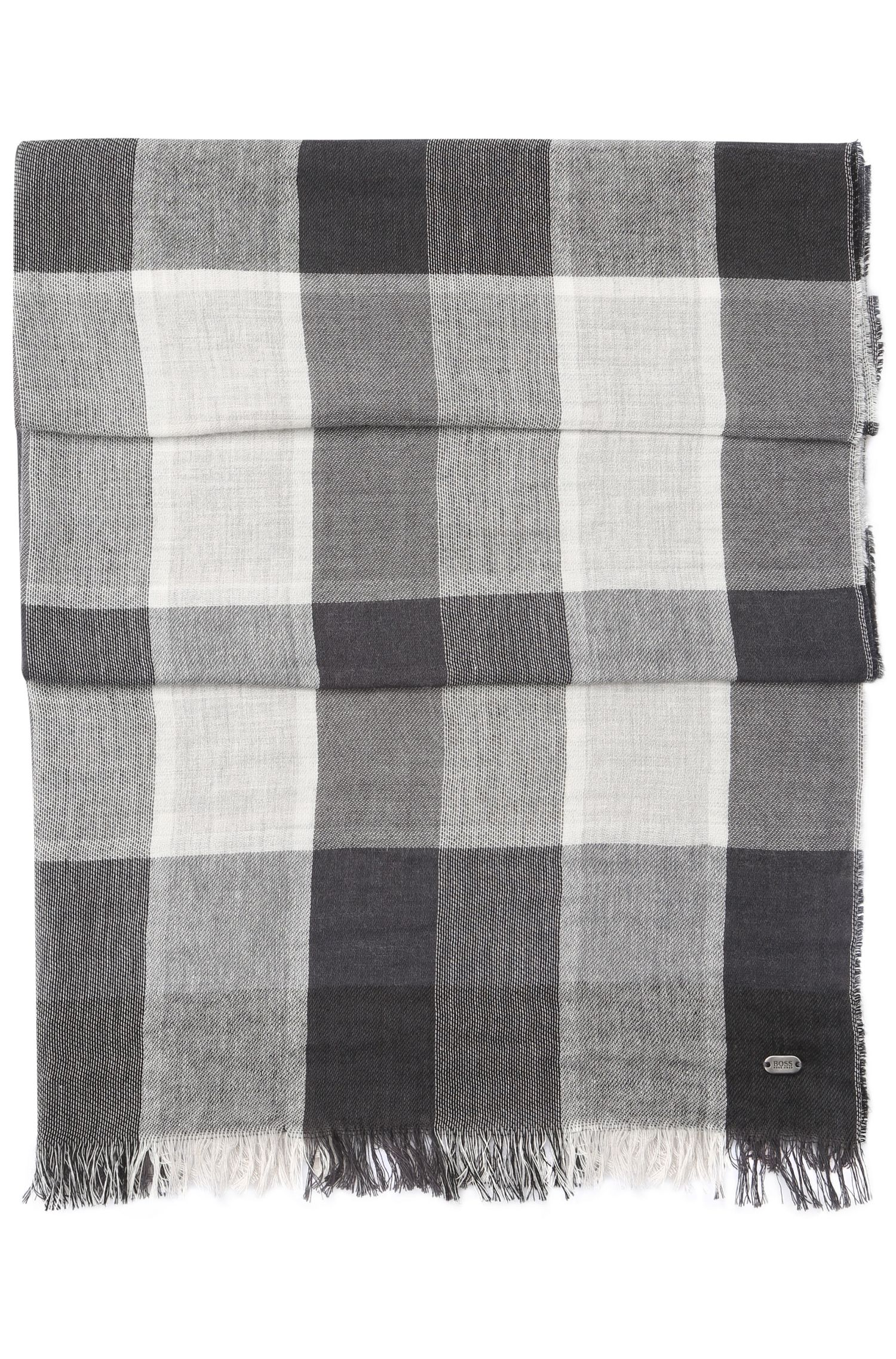 Checked scarf in cotton blend: 'C-Scarfus'