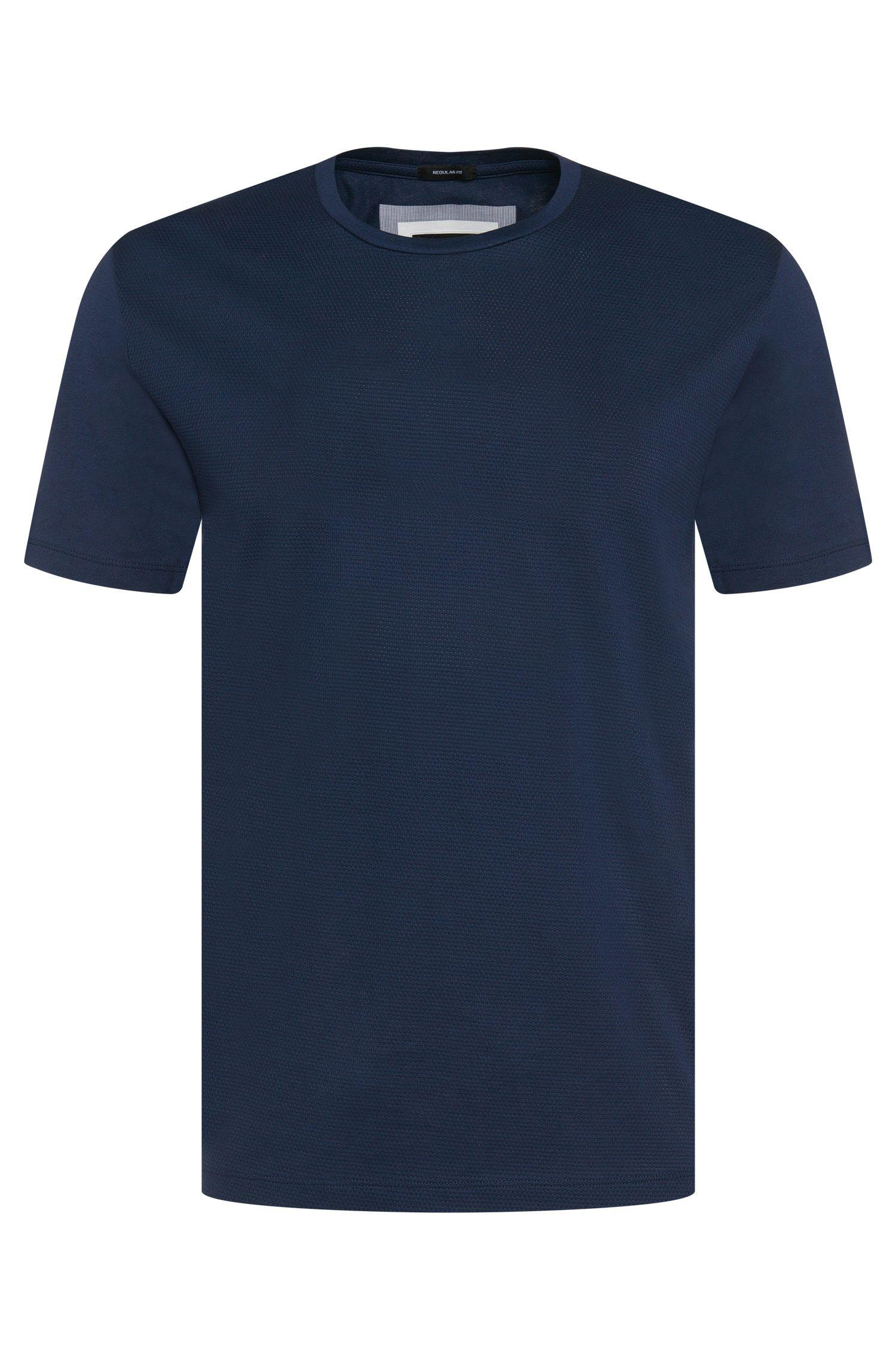 T-shirt en coton structuré sur le devant: «Tiburt 07»