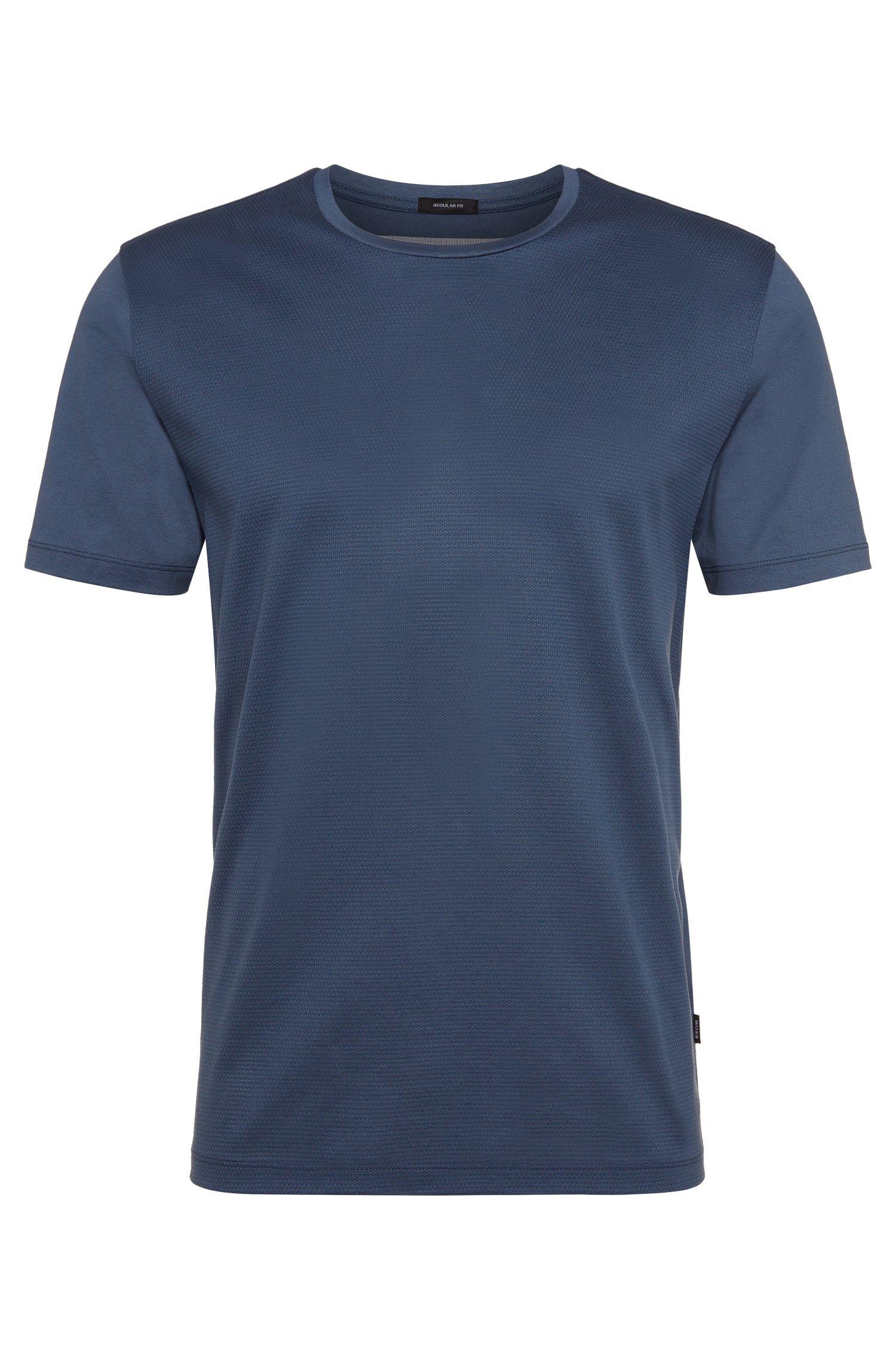 Maglietta in cotone con lato anteriore strutturato: 'Tiburt 07'