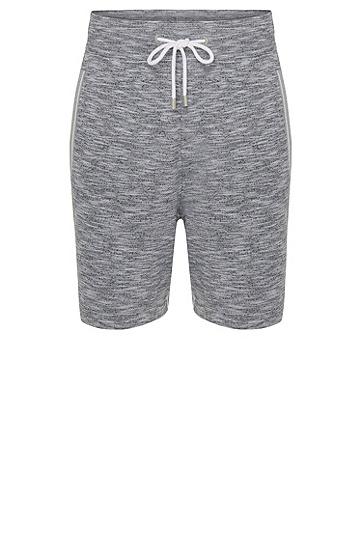 Melierte Shorts aus Baumwolle mit Tunnelzugbund: 'Short Pant', Grau