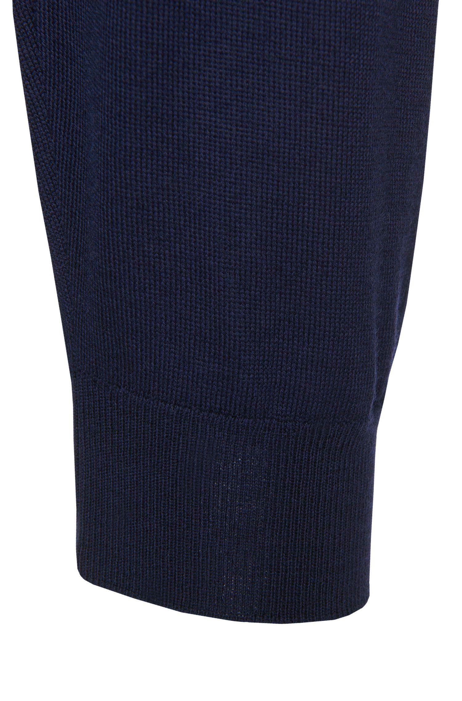 Pull uni Slim Fit en pure laine vierge: «Leno-H»