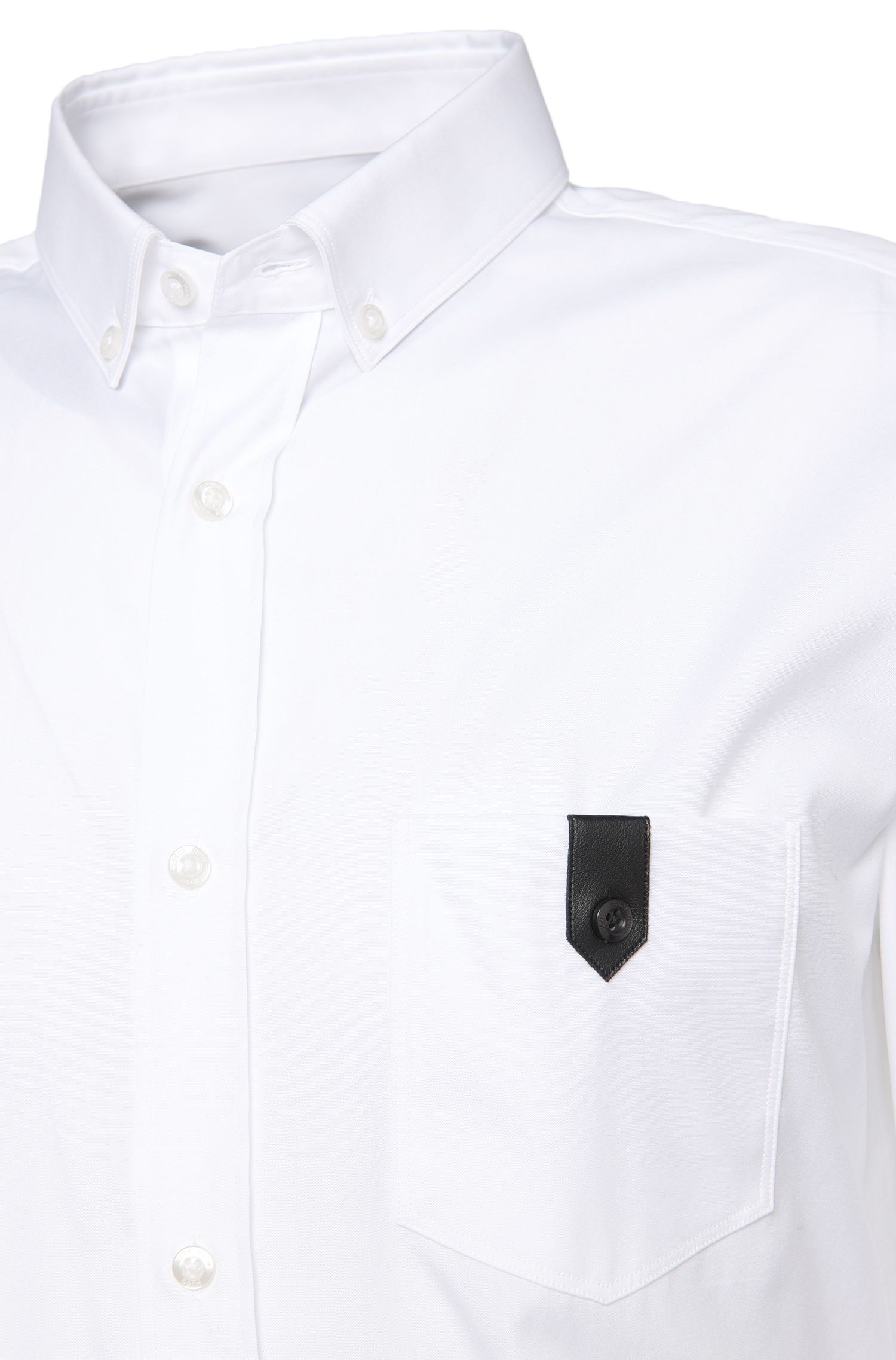Chemise Slim Fit en coton avec poche-poitrine: «Enthon»