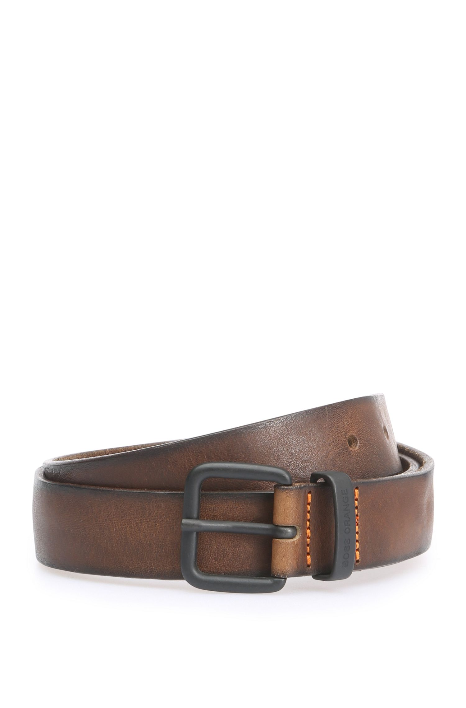 Handmade leather belt: 'Joen_Sz30_ltpl'