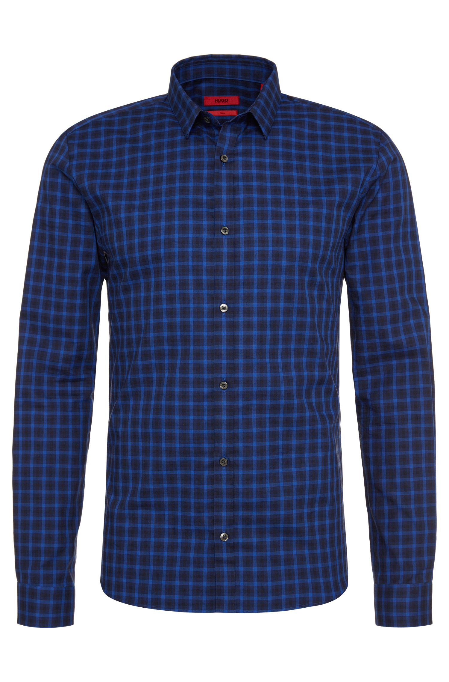 Checked slim-fit shirt in cotton: 'Ero3'