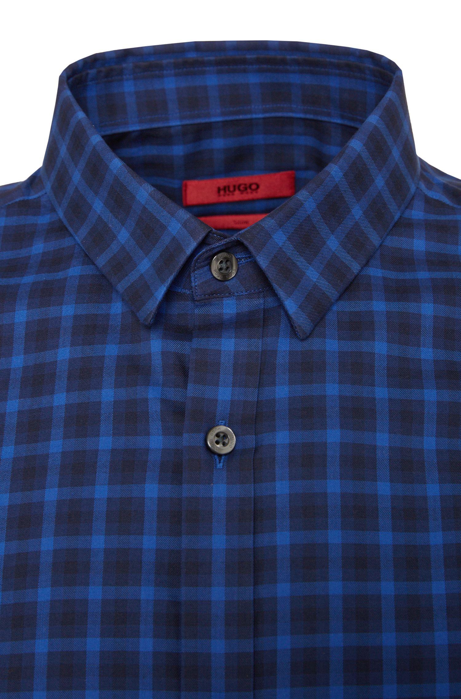 Kariertes Slim-Fit Hemd aus Baumwolle: 'Ero3'