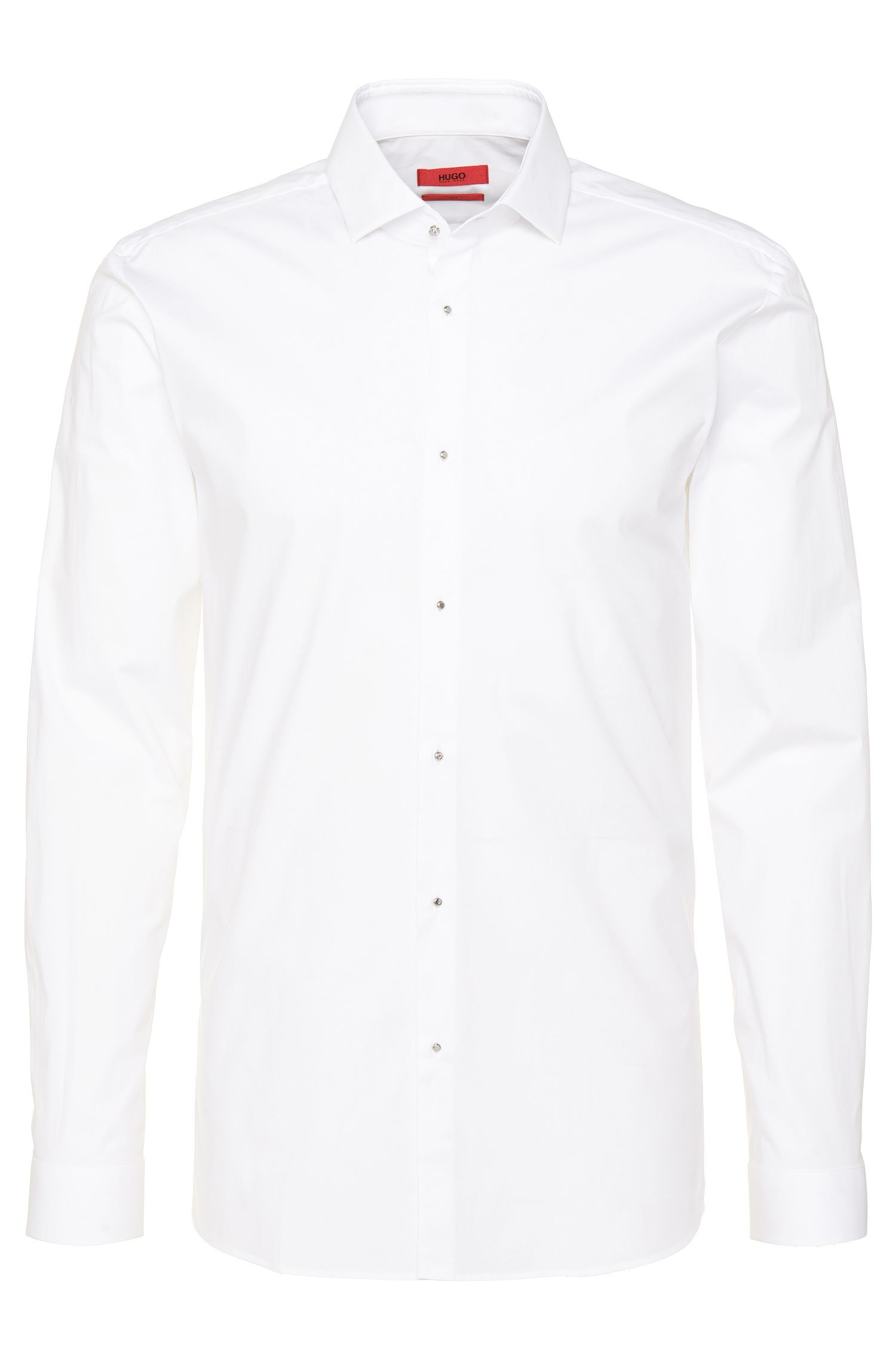Slim-fit shirt in stretch cotton: 'Ewyn'
