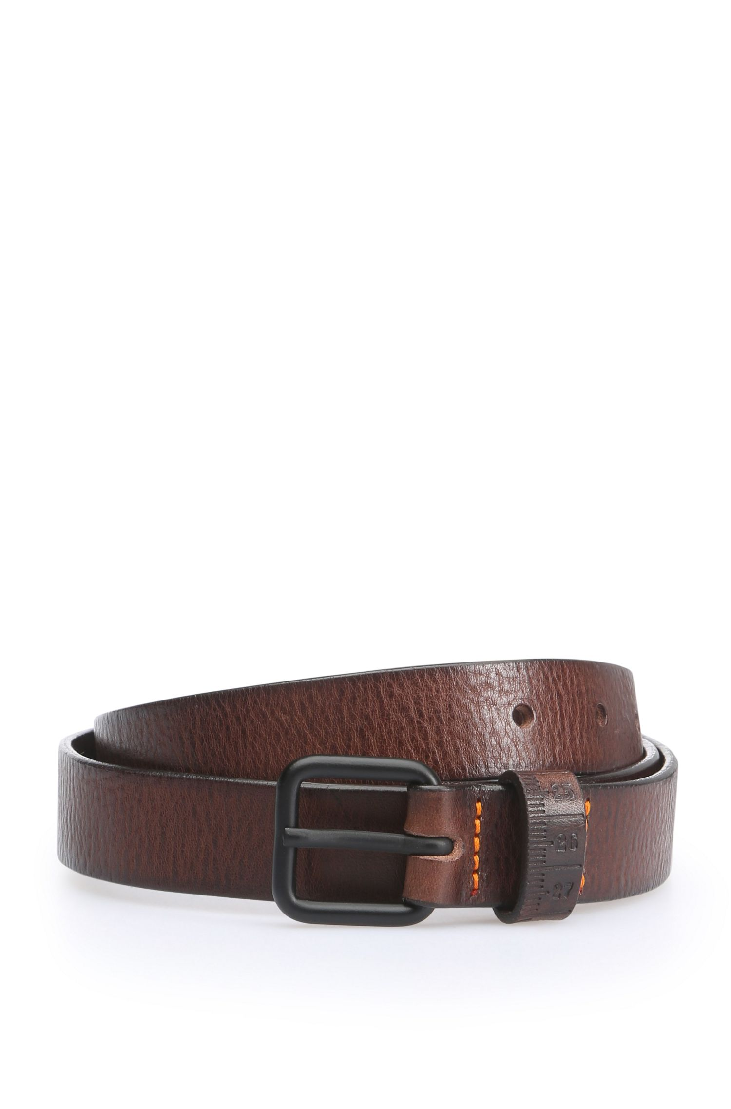 Belt in grained leather: 'Joe_Sz25_ltem'