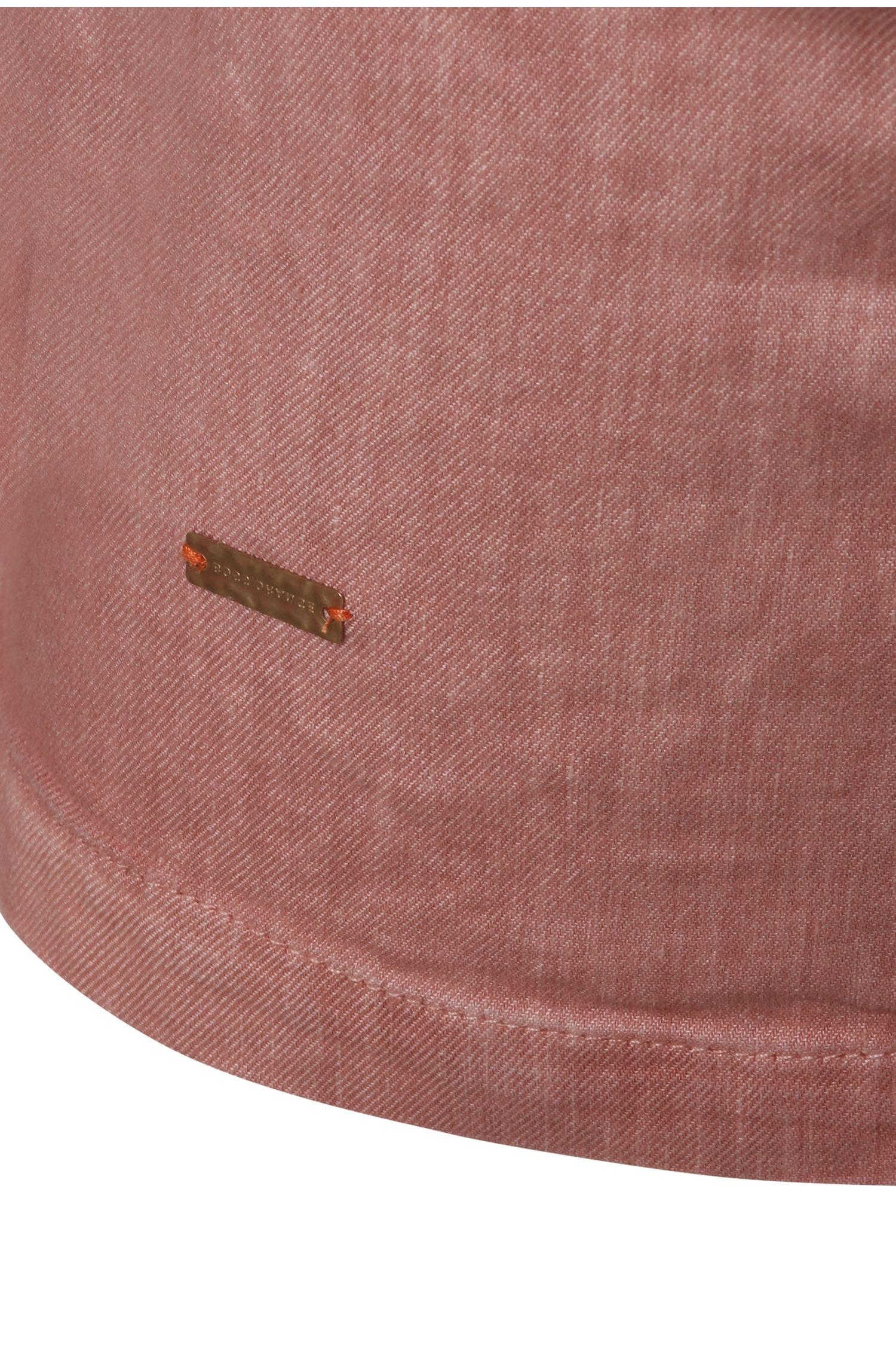 Trenchcoat van een linnenmix met kleurverloopeffect: 'Odippy-D'
