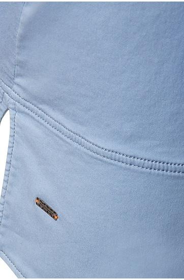 Kurzmantel in A-Linie aus elastischem Baumwoll-Mix: ´Ocapy-D`, Hellblau