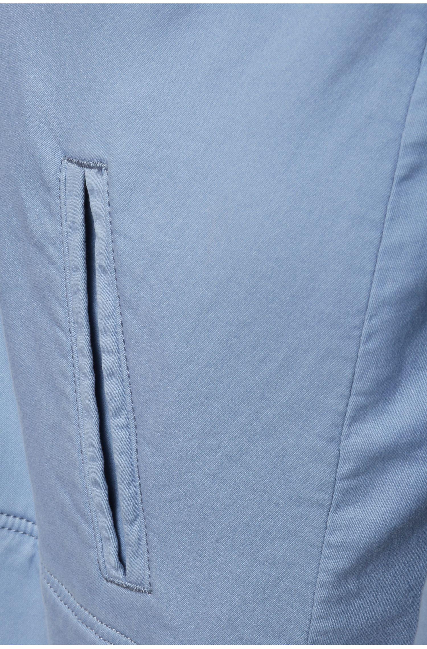 Korte mantel in A-lijn van een elastische katoenmix: 'Ocapy-D'