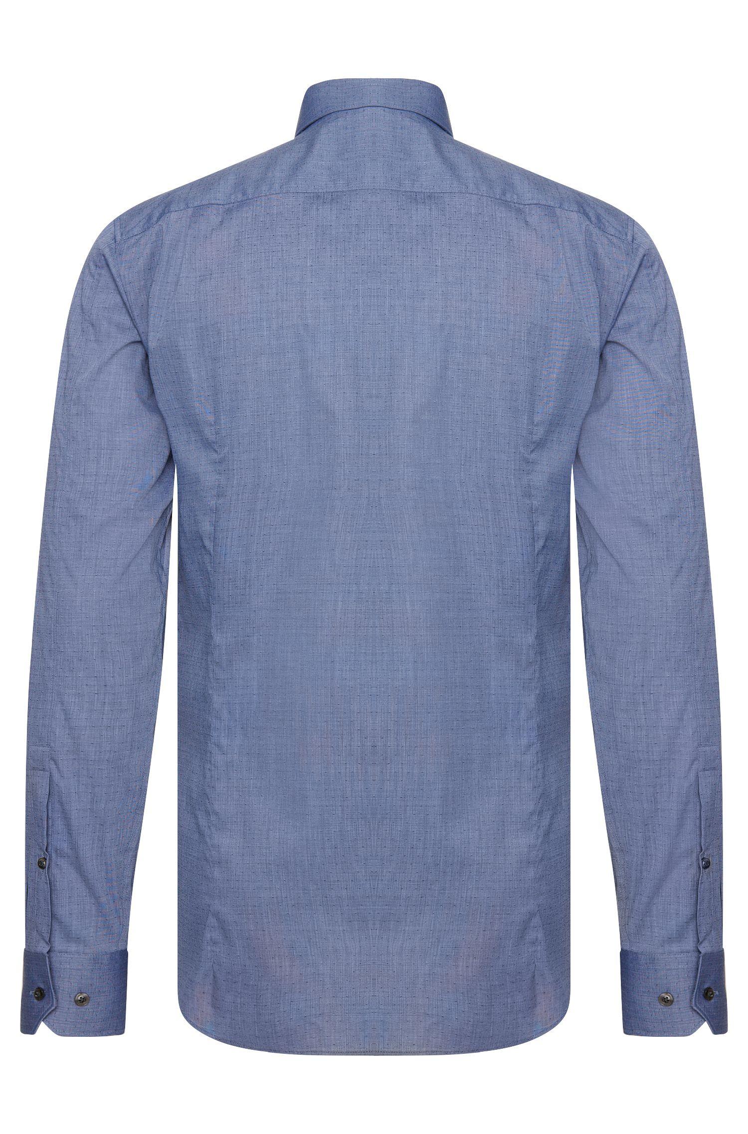 Slim-Fit Hemd aus strukturierter Stretch-Baumwolle: 'Elisha'