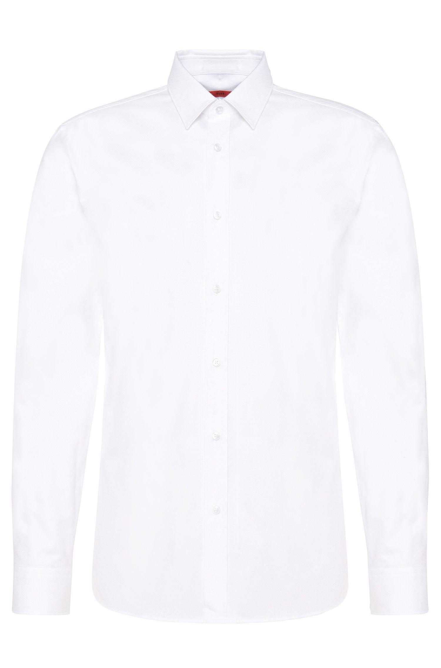 Leicht strukturiertes Slim-Fit Hemd aus Baumwolle: 'Elisha'