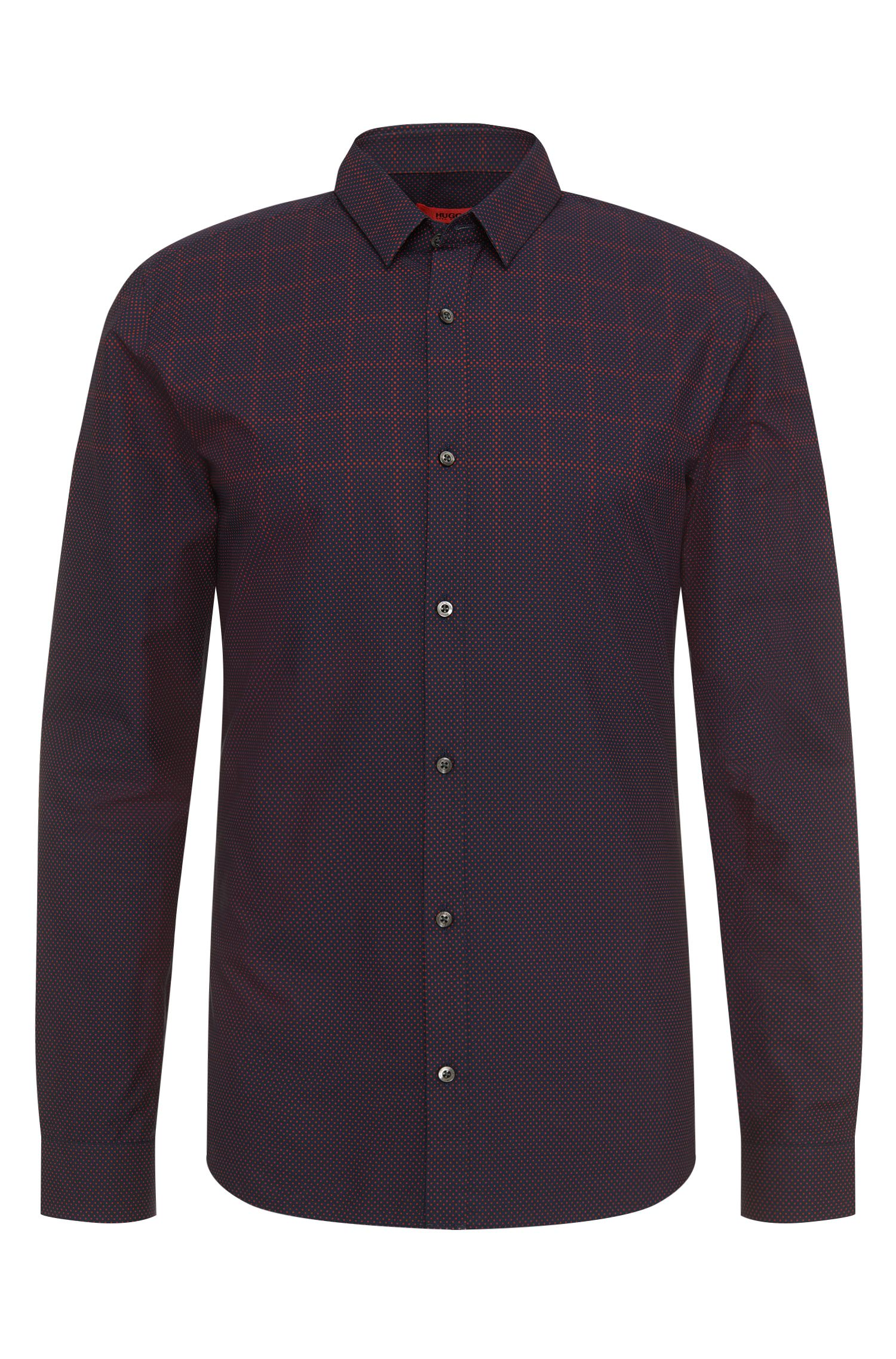 Polka-dot-pattern slim-fit shirt in pure cotton: 'Ero3'