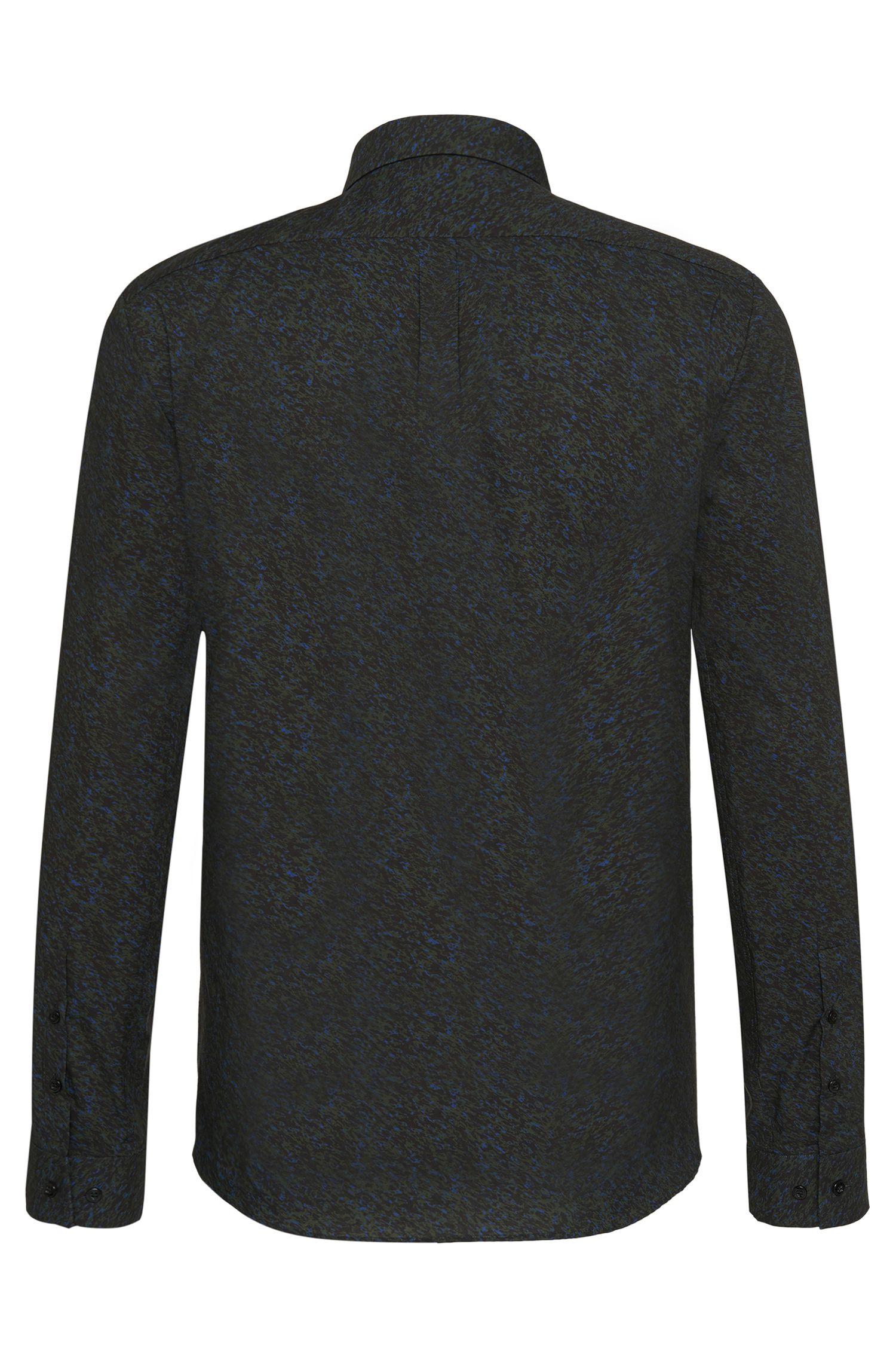 Allover gemustertes Slim-Fit Hemd aus Baumwolle: 'Ero3'