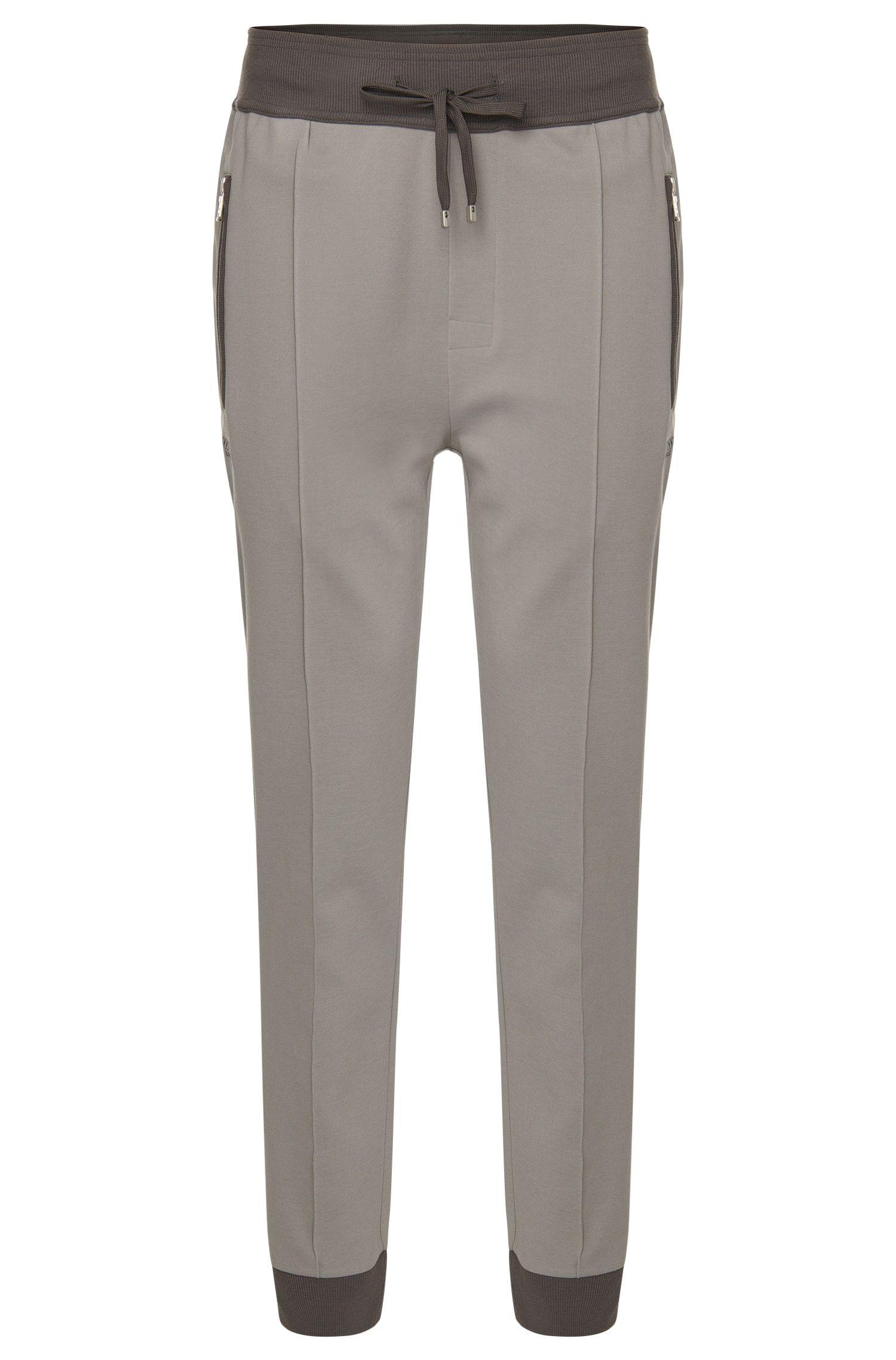 Pantalon de jogging en coton mélangé avec bas des jambes retroussé: «Long Pant»