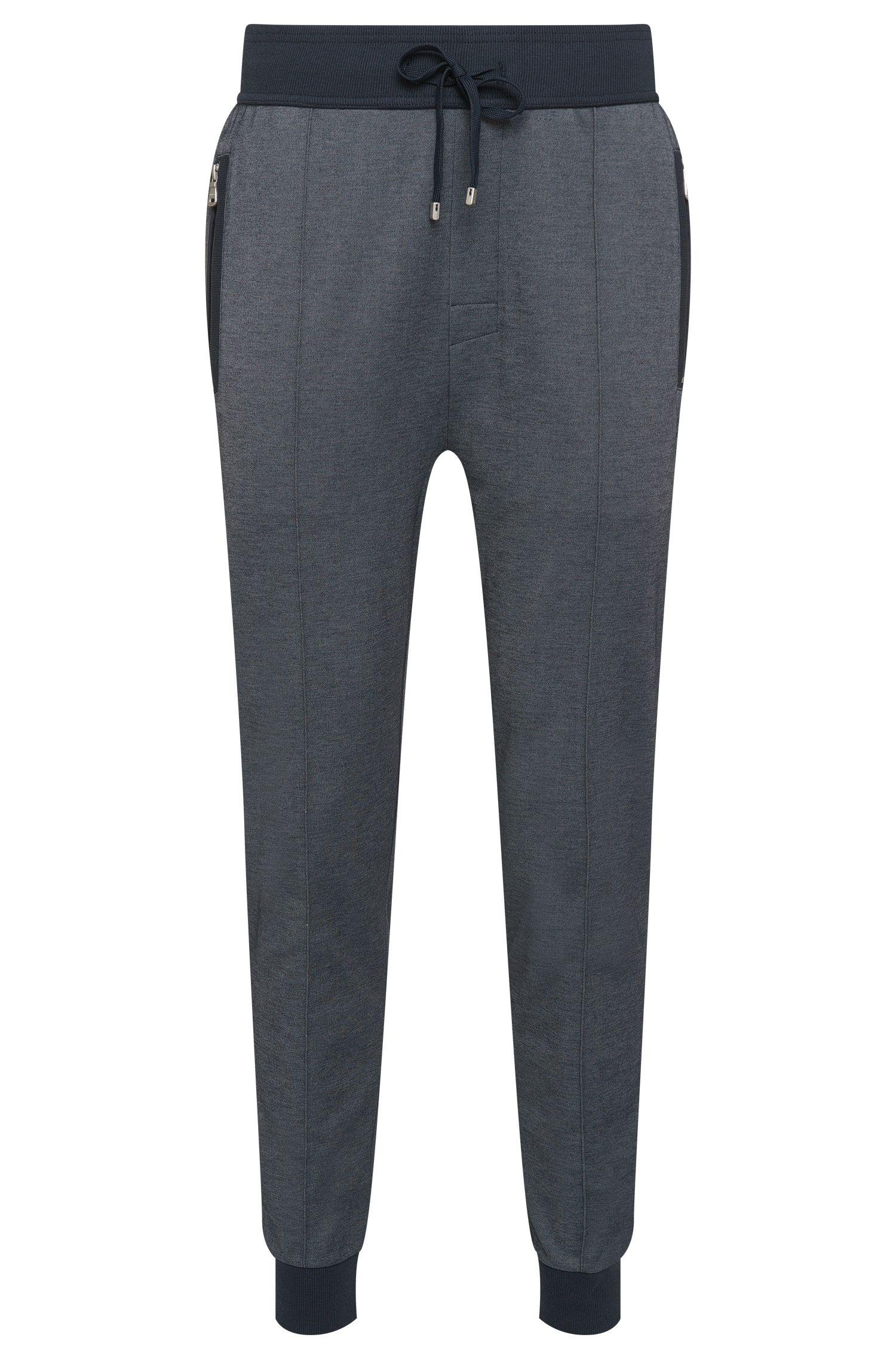 Jogginghose aus Baumwoll-Mix mit gerippten Beinabschlüssen 'Long Pant'