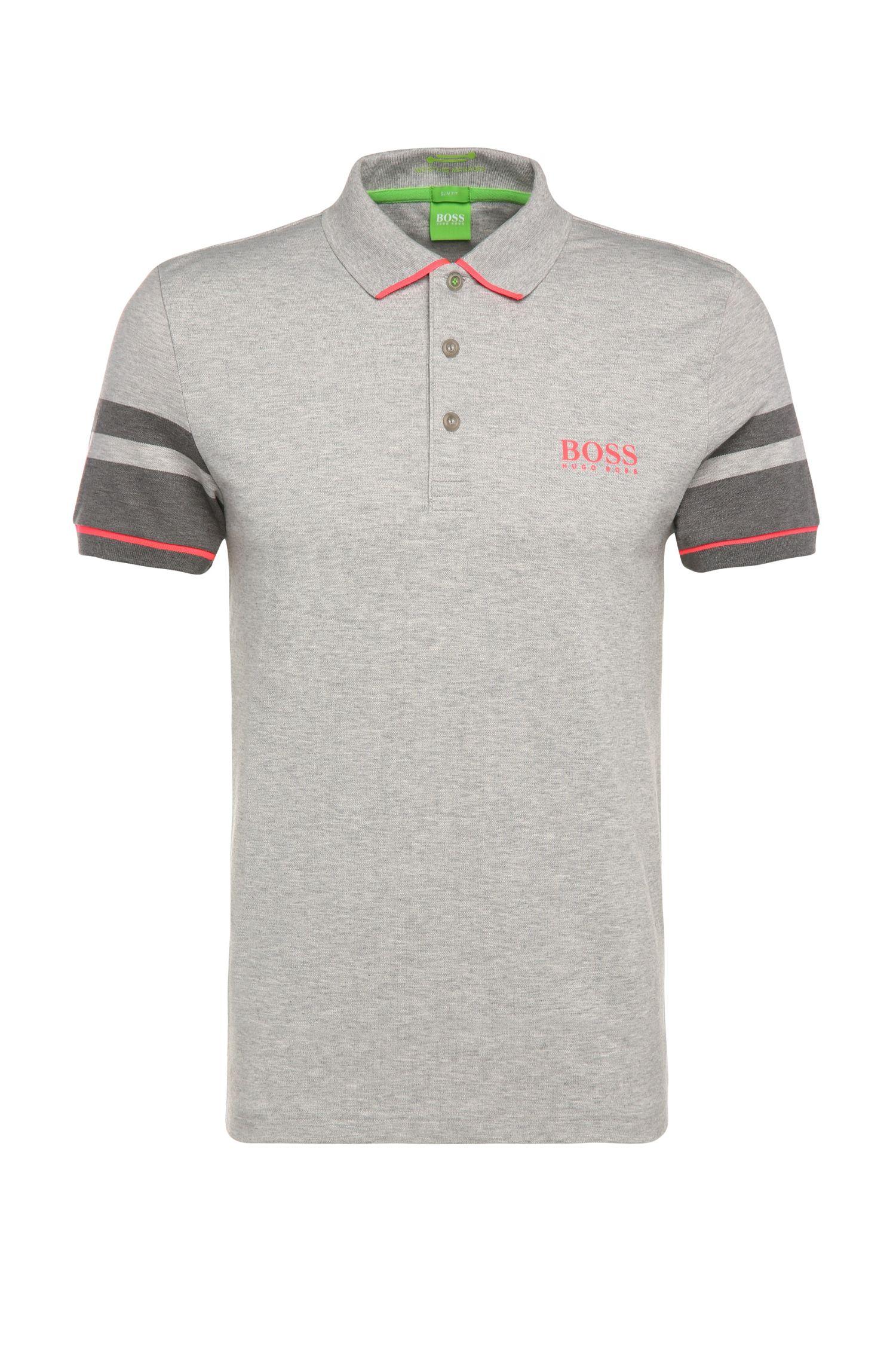 Slim-Fit Poloshirt aus einem funktionalen Baumwoll-Mix: ´Paule Pro 1`