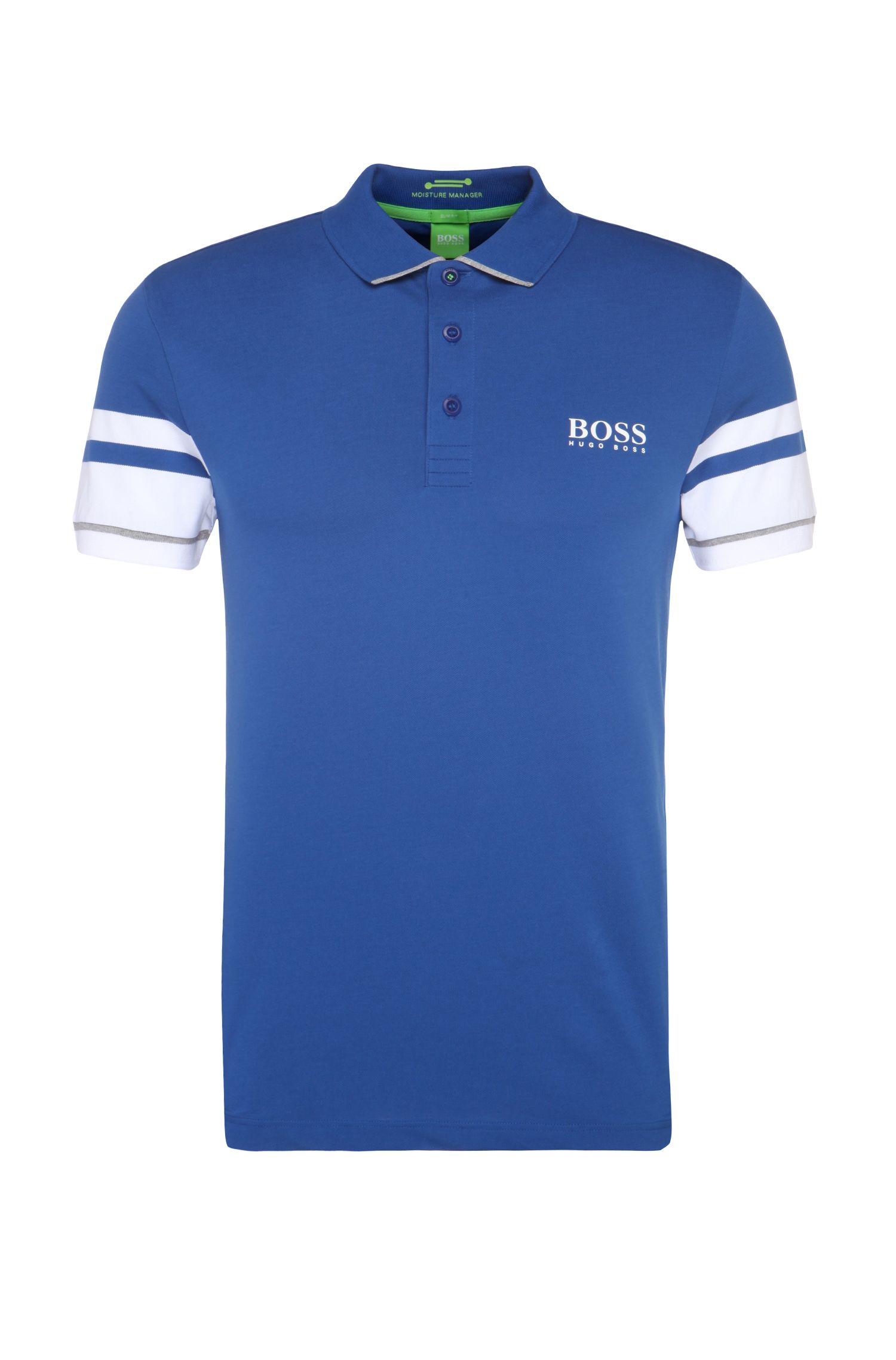 Slim-fit polo shirt in a functional cotton blend: 'Paule Pro 1'
