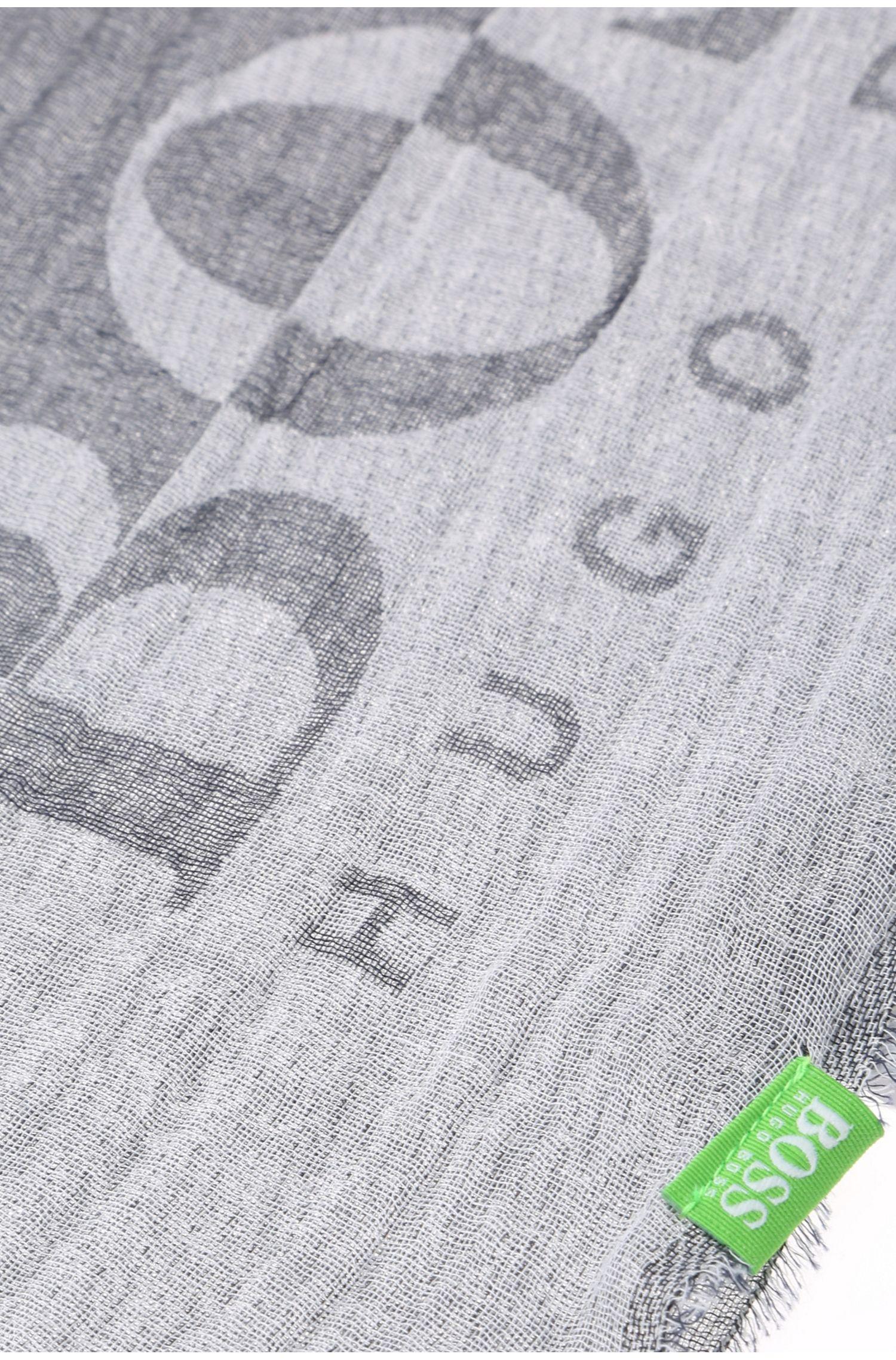 Baumwollschal mit Streifenmuster: ´C-Scarf`