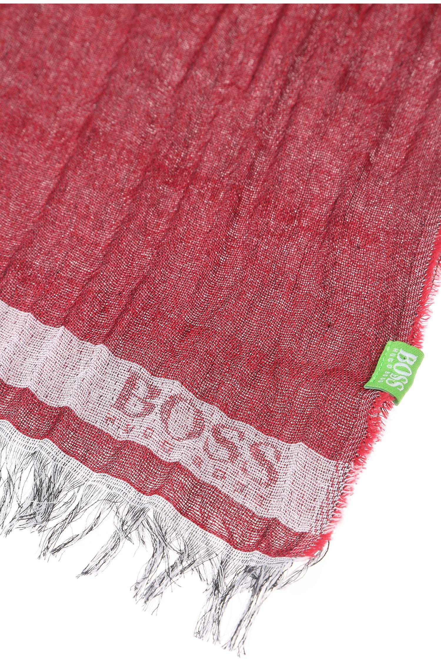 Gestreifter Schal aus Baumwoll-Jacquard: ´C-Scarvino`