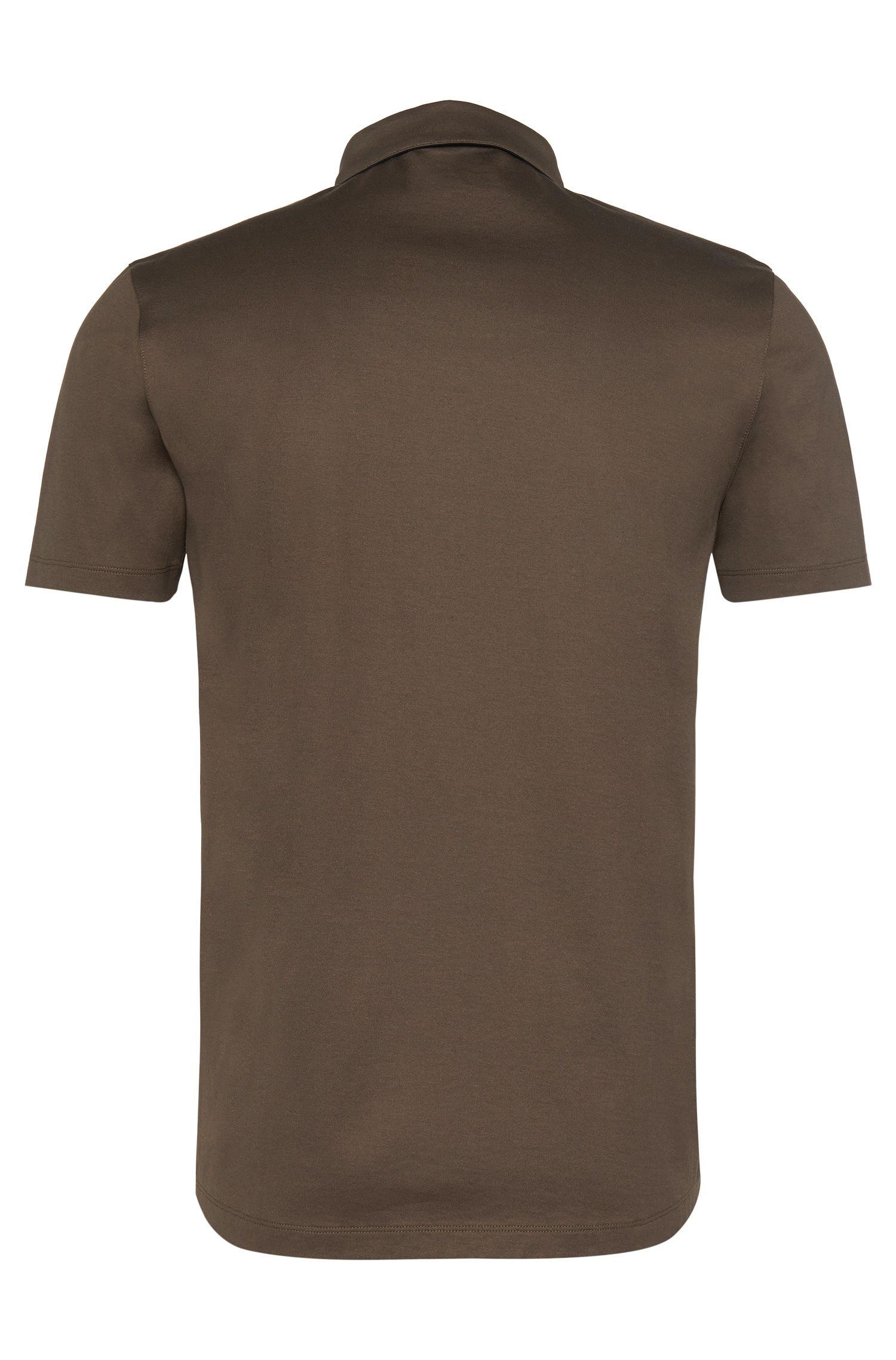 Polo Regular Fit en coton, orné de détails contrastants: «Dellos»