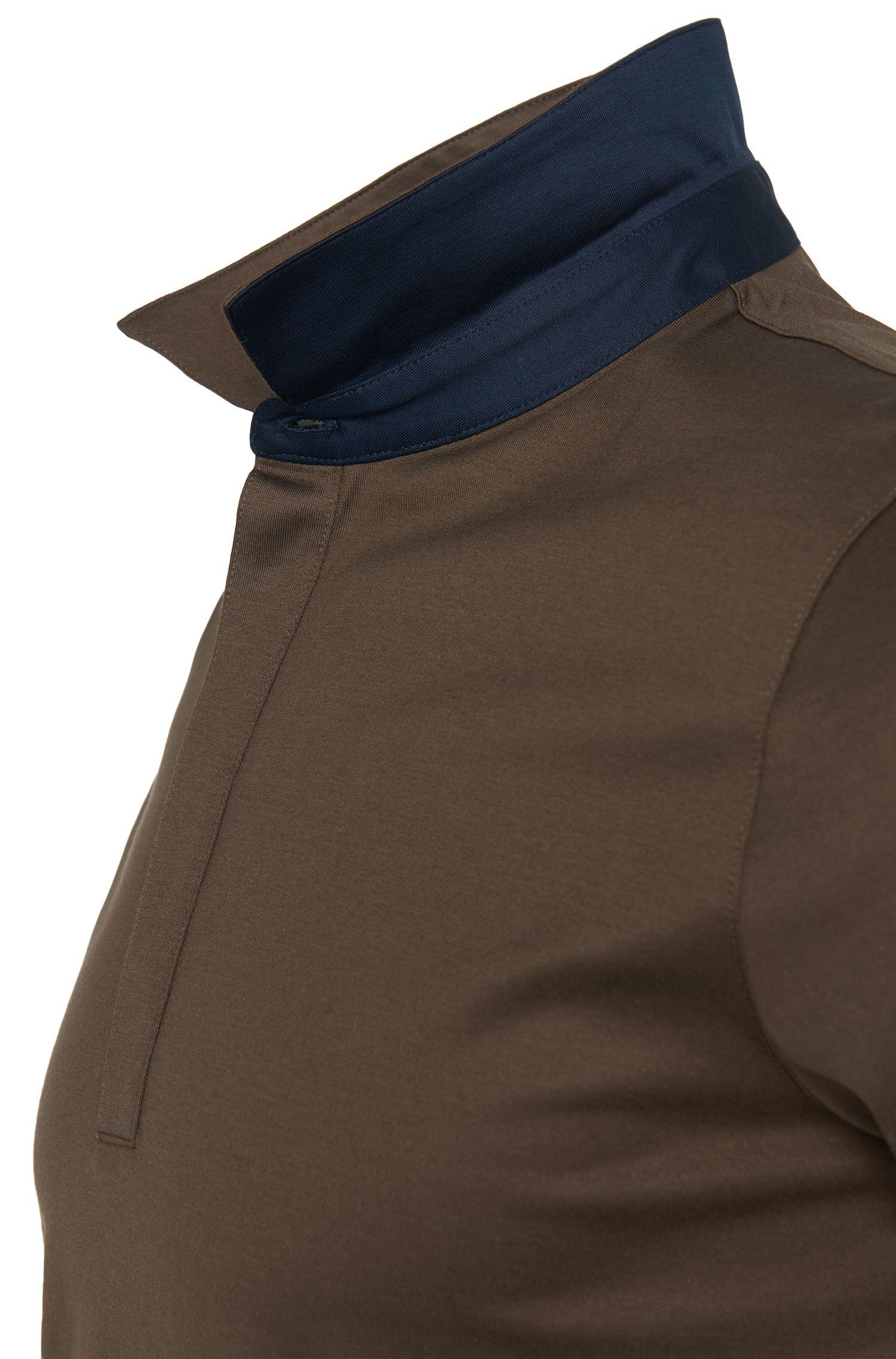 Regular-fit poloshirt van katoen met contrastdetails: 'Dellos'