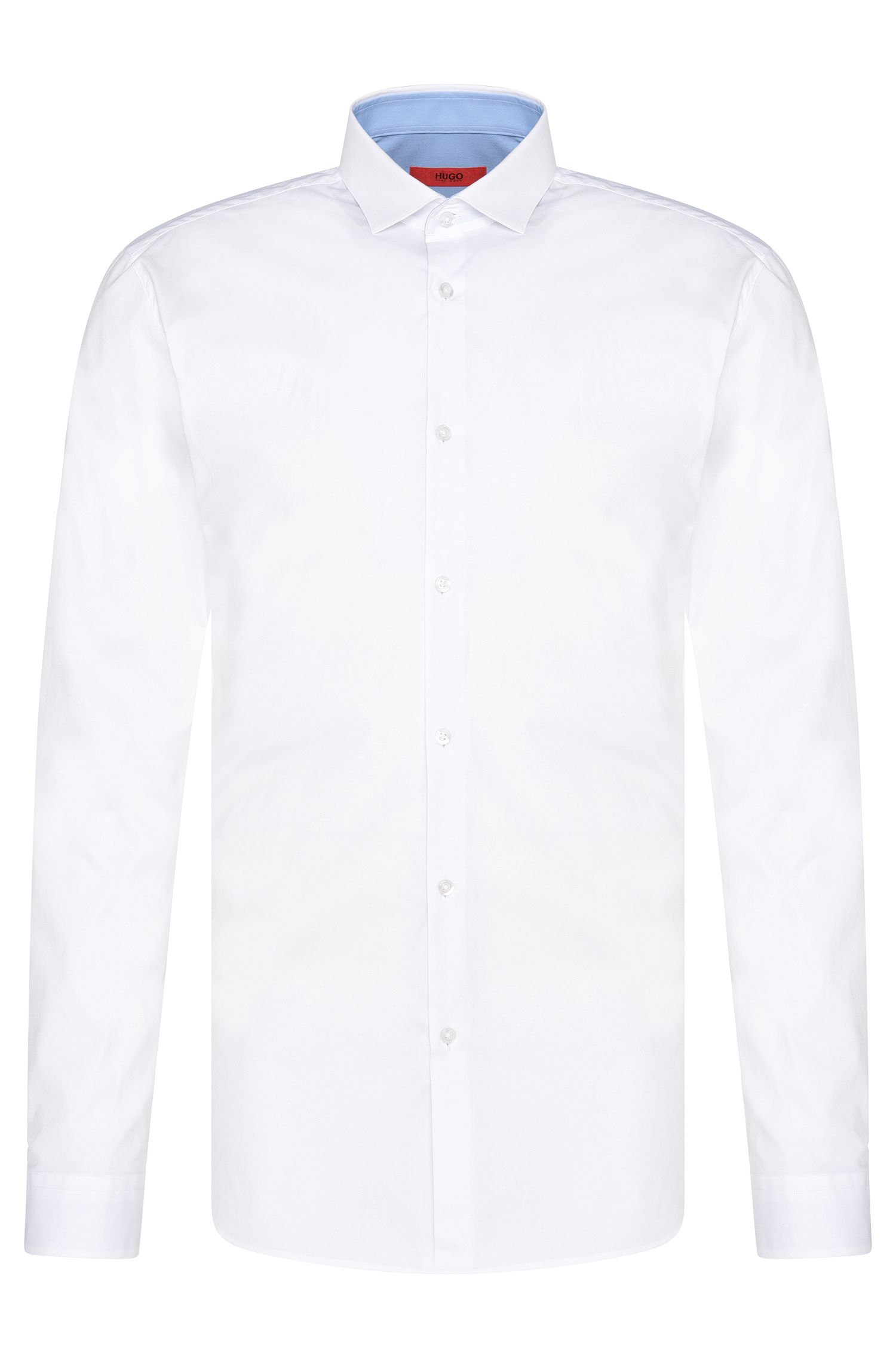 Chemise Slim Fit en coton stretch ornée de détails en contraste: «Erondon»