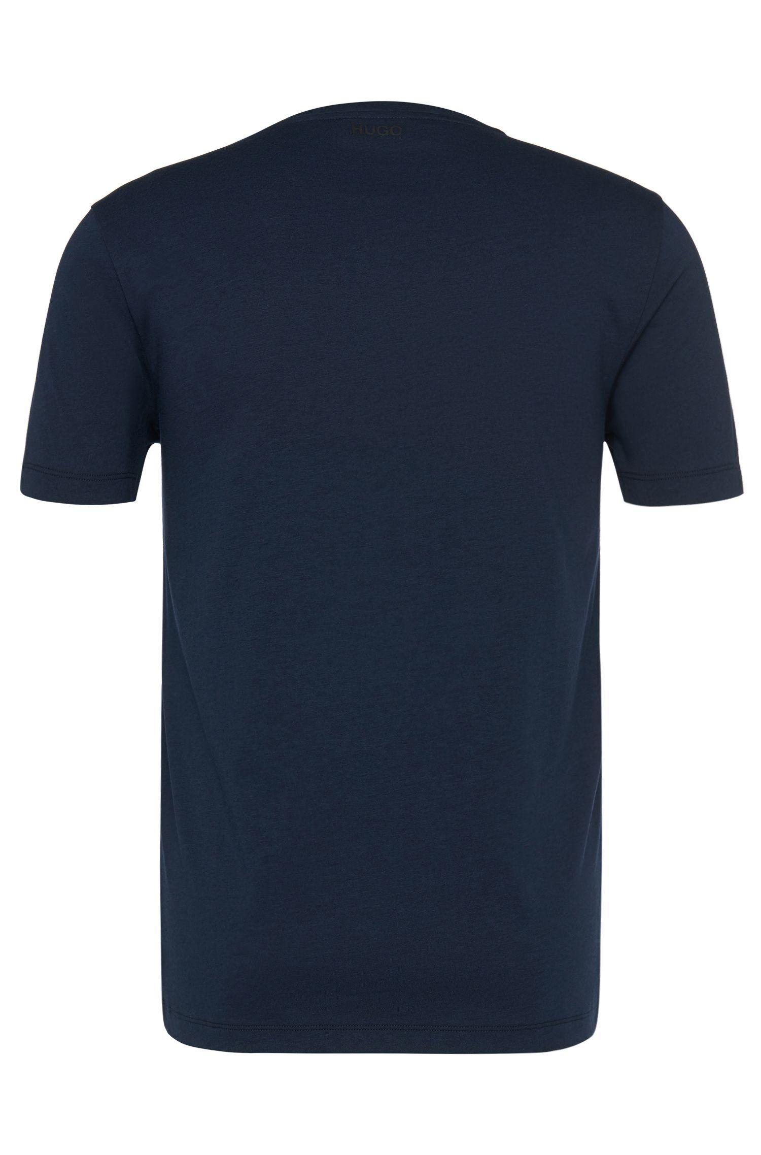 Regular-fit T-shirt van een katoenmix met print en stiksel: 'Dircle'