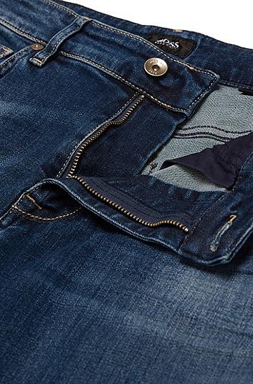 Regular-Fit Jeans aus Stretch-Baumwolle: 'Maine3', Dunkelblau