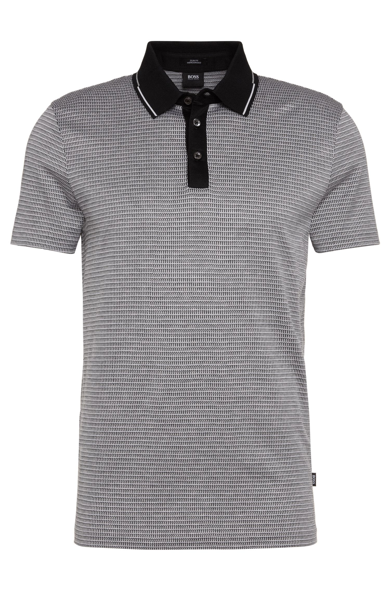 Polo slim fit in cotone mercerizzato: 'Pitton 04'