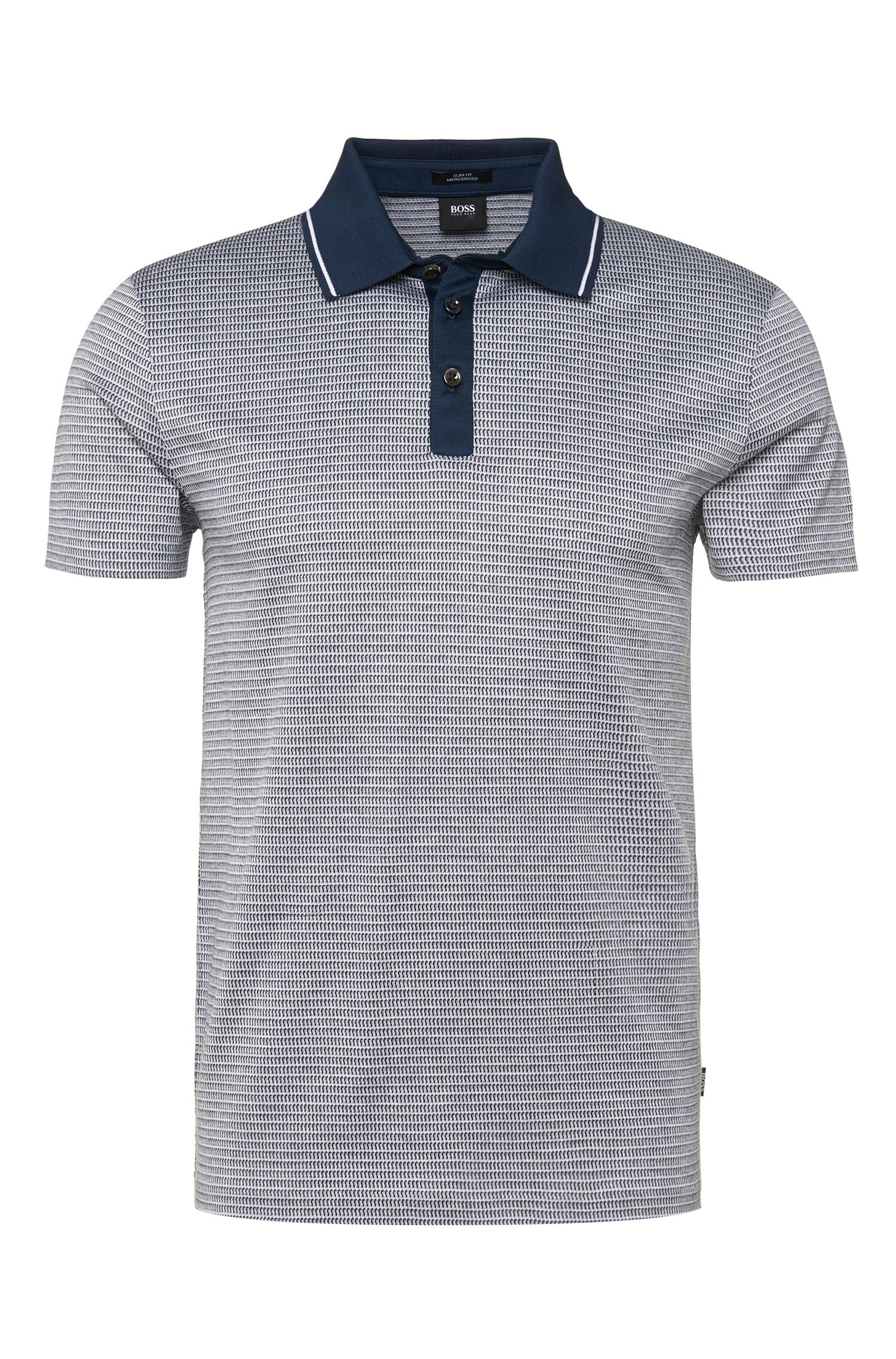 Polo Slim Fit en coton mercerisé : « Pitton 04 »