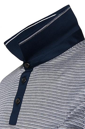 Slim-Fit Poloshirt aus merzerisierter Baumwolle: 'Pitton 04', Dunkelblau