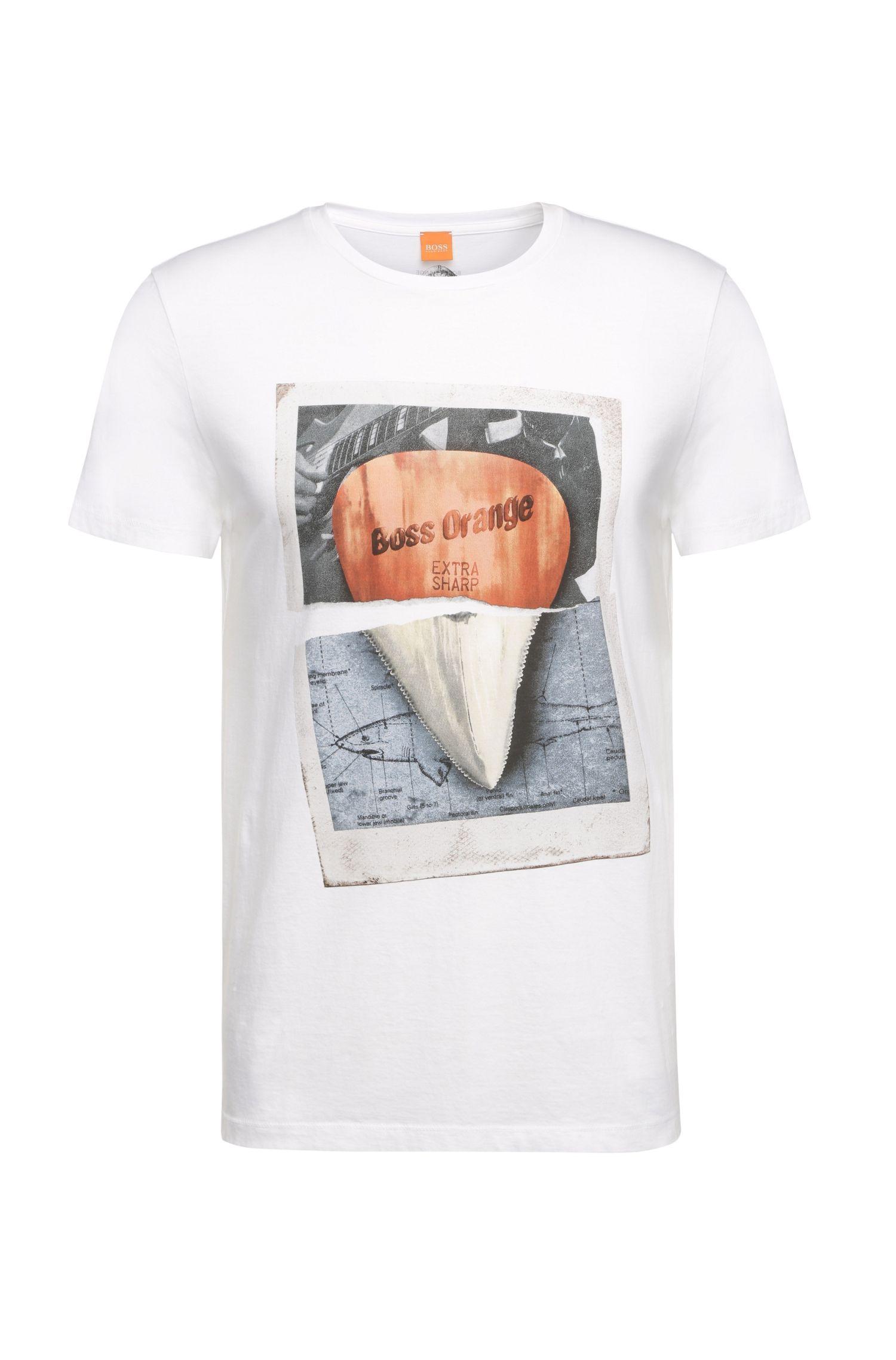 T-shirt van zuiver katoen met frontprint: 'Treyno 2'