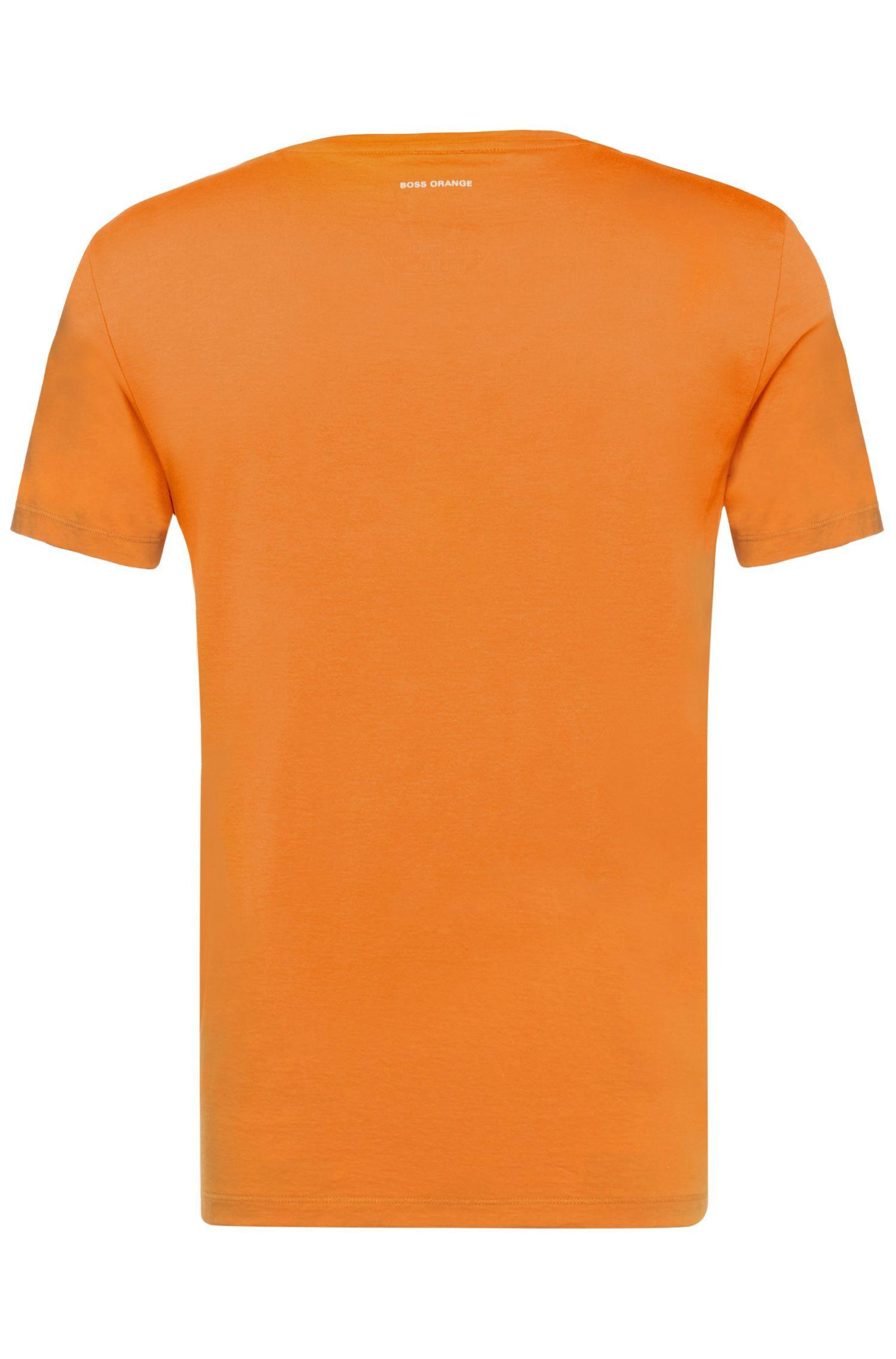 T-shirt en pur coton à imprimé sur le devant: «Treyno2»