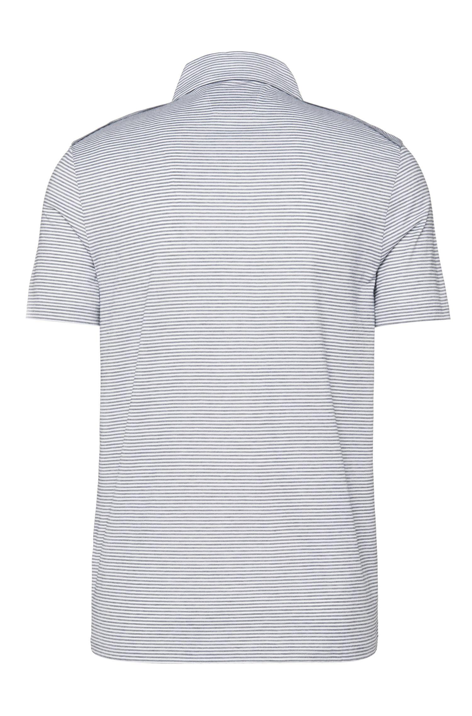 Gestreiftes Slim-Fit Poloshirt aus reiner Baumwolle: 'T-Pryde 17'